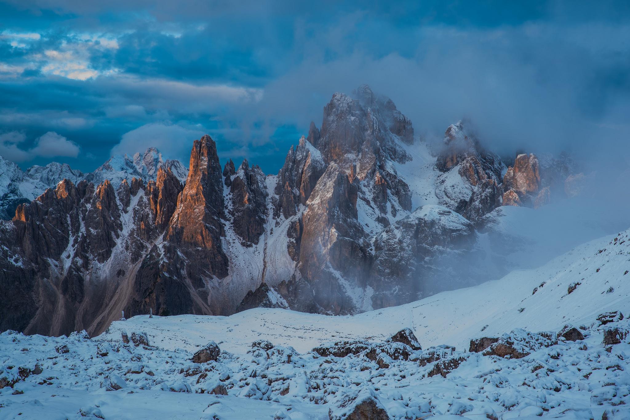 Cloud Mountain Nature Peak Snow 2048x1367