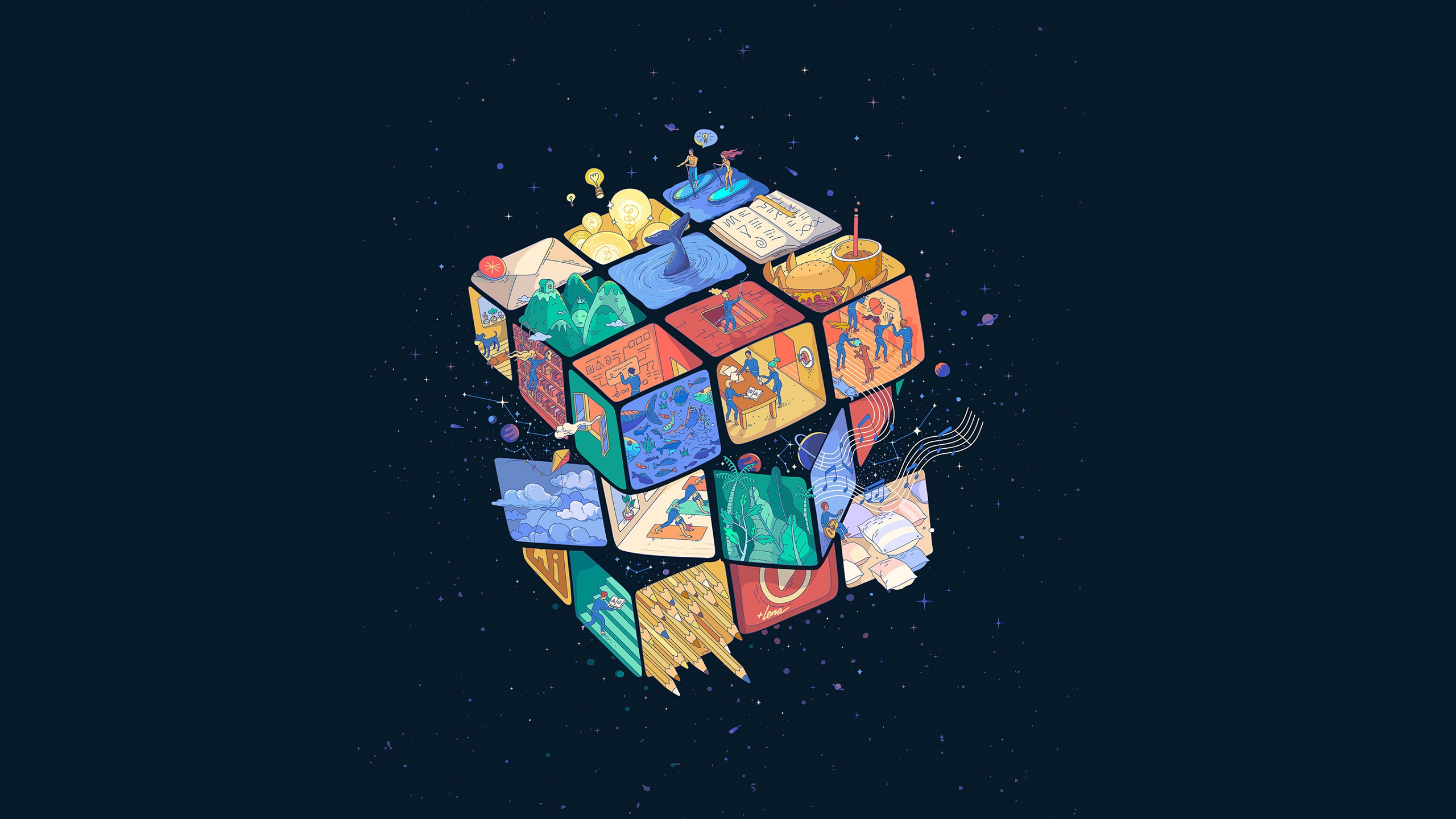 Rubik 039 S Cube 2560x1440