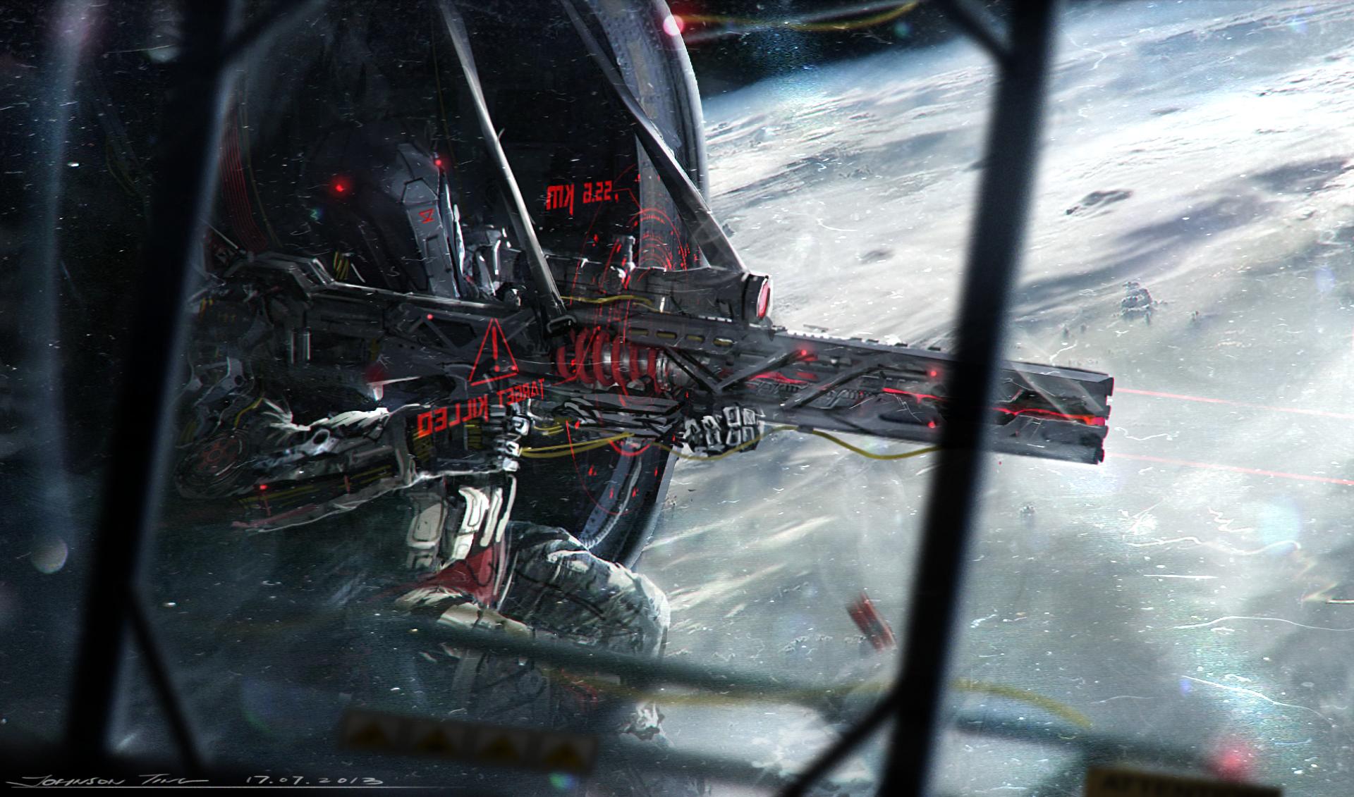 Gun Robot Sci Fi Space 1920x1131