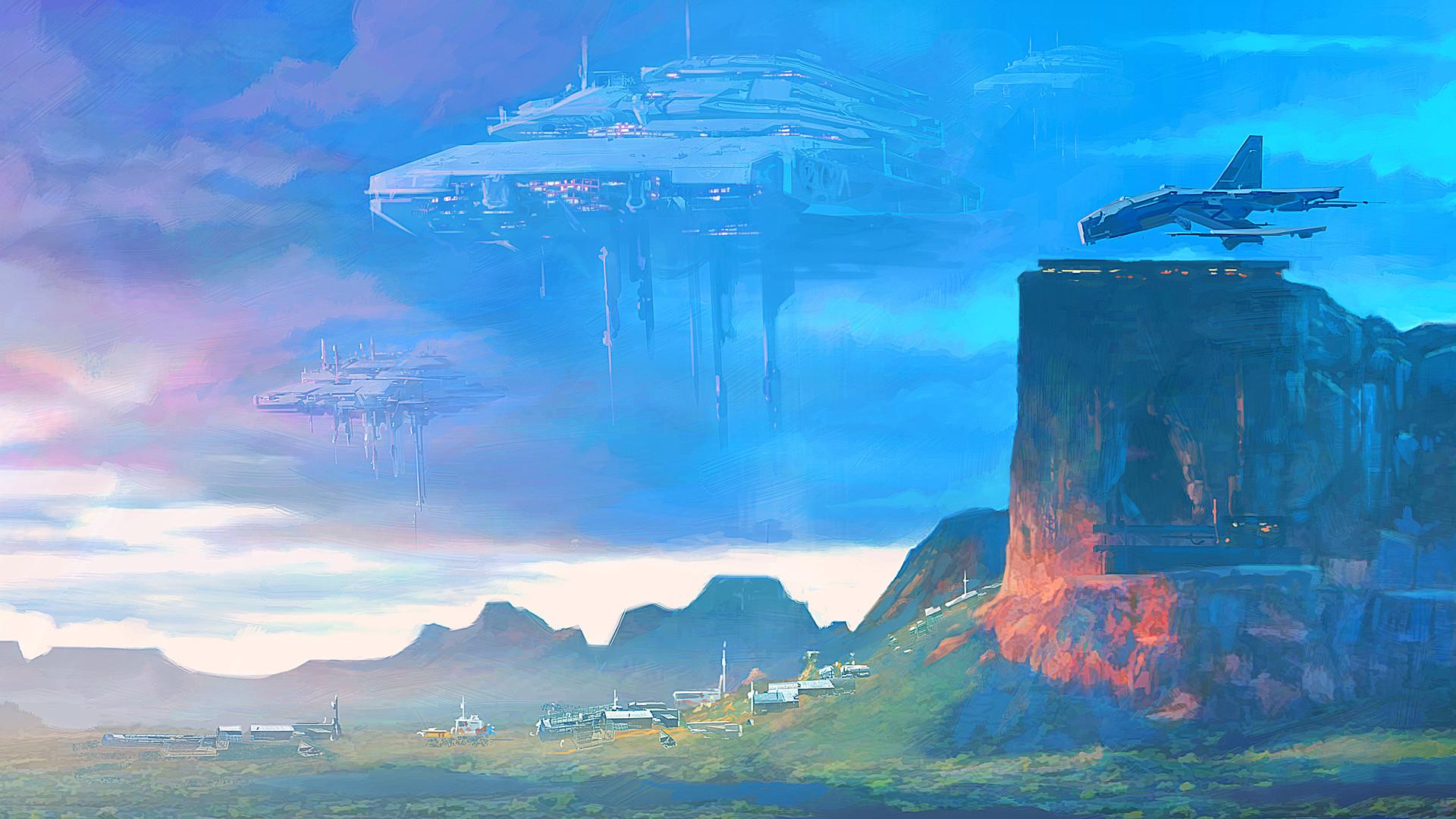 Landscape Spaceship 1920x1080