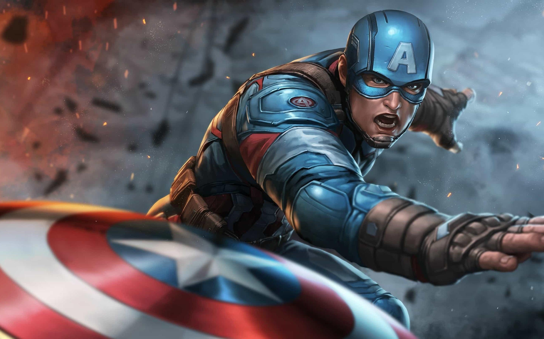 Captain America Shield Marvel Comics Marvel Cinematic Universe The Avengers 2880x1800