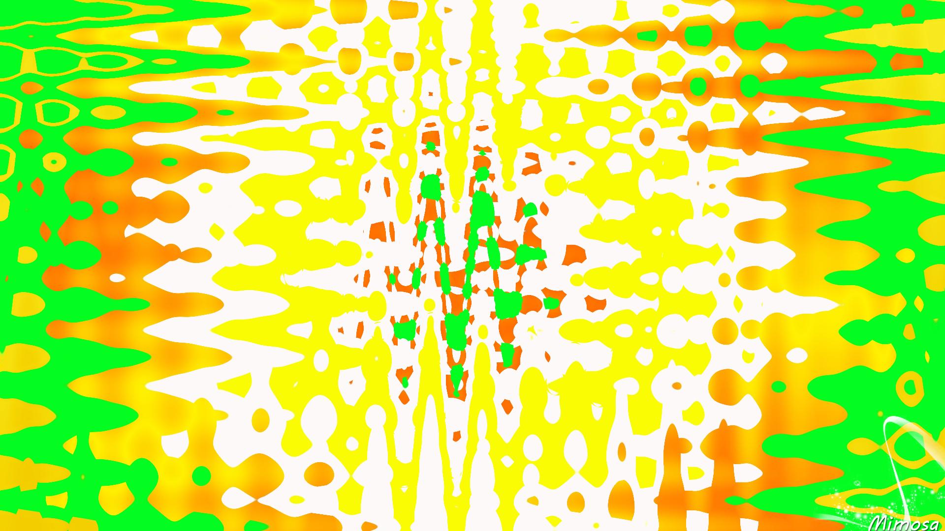 Artistic Colorful Colors Digital Art Green White Yellow Orange Color 1920x1080