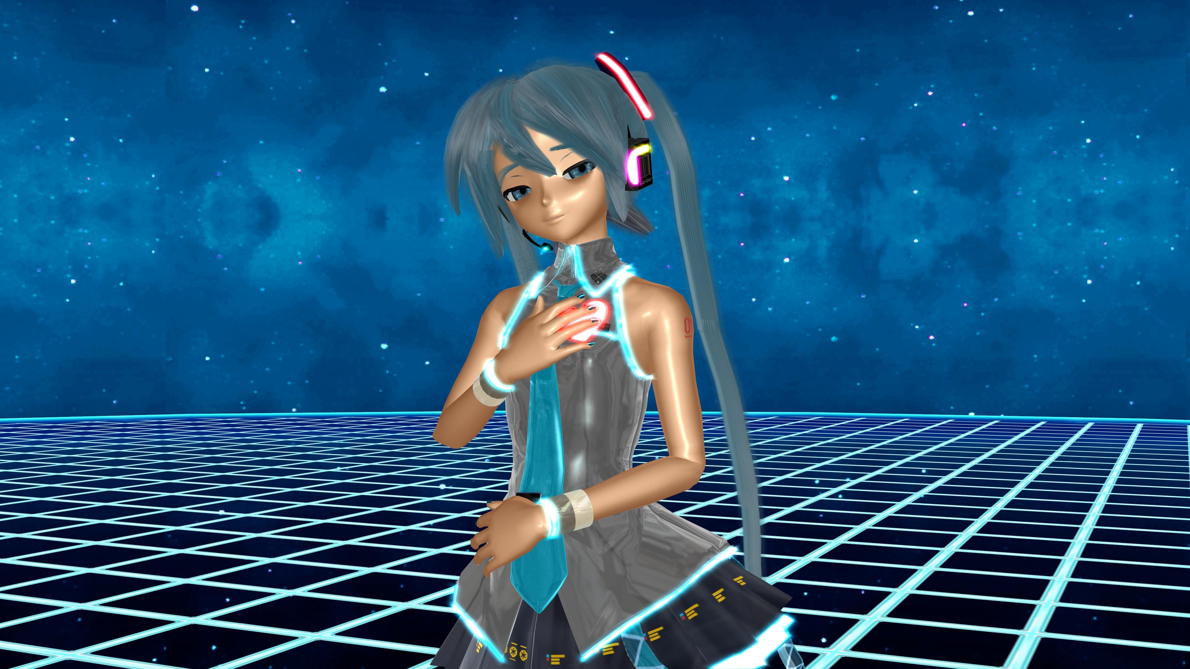 Blue Eyes Blue Hair Hatsune Miku Love Vocaloid 3840x2160