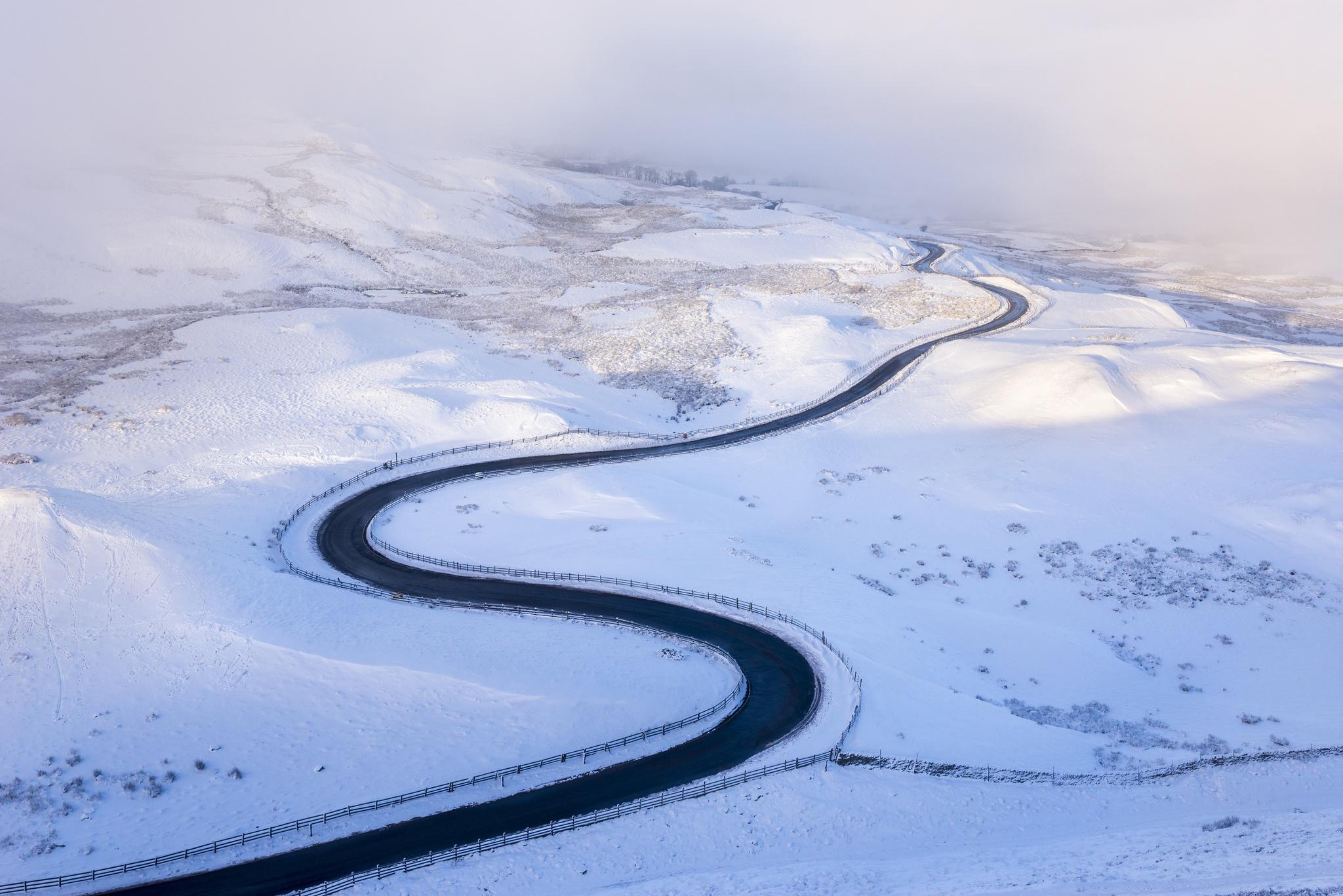 Landscape Nature Road Snow Winter 2048x1367