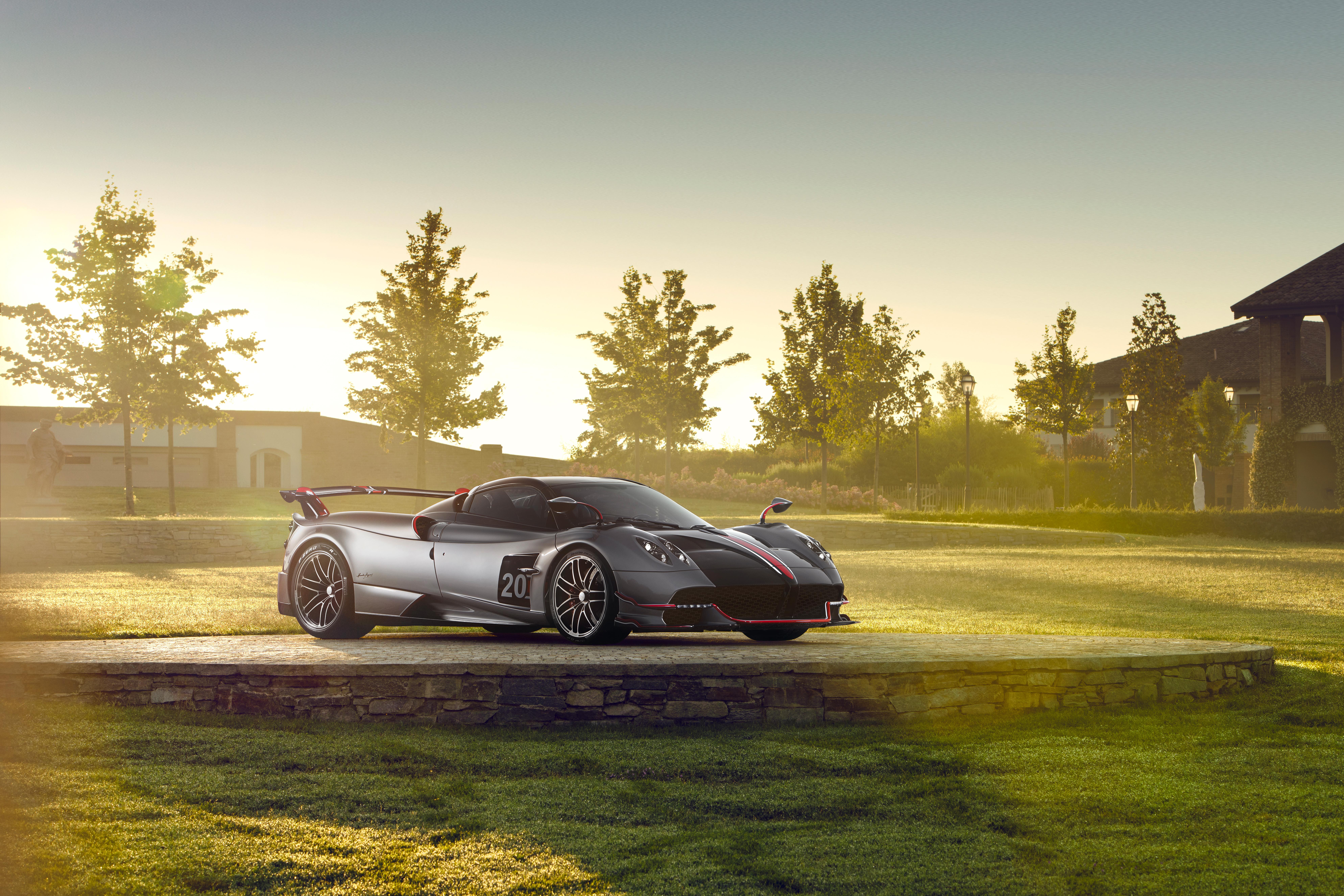 Car Pagani Pagani Huayra Silver Car Sport Car Supercar Vehicle 7952x5304