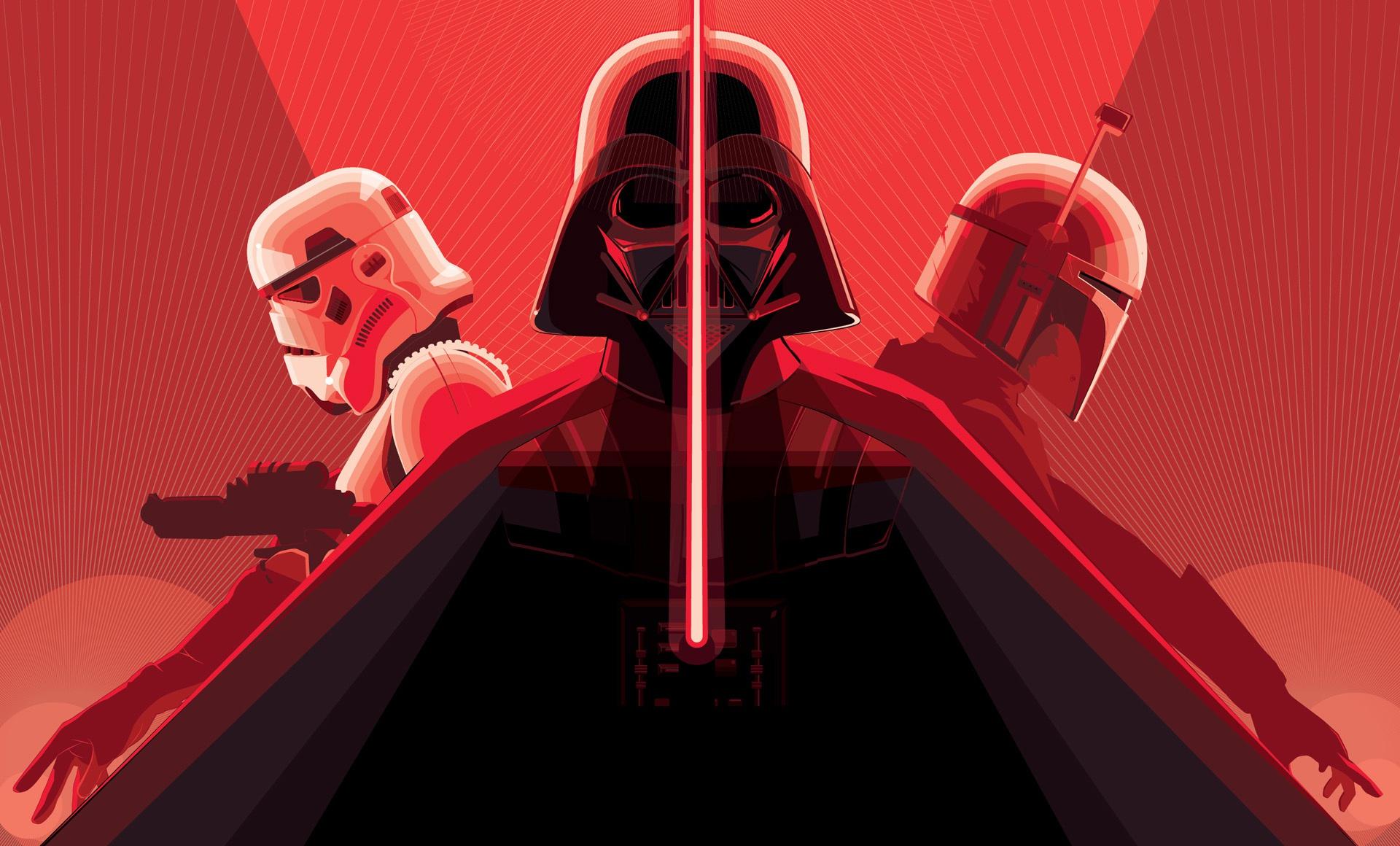 Boba Fett Darth Vader Lightsaber Star Wars Stormtrooper 1920x1160
