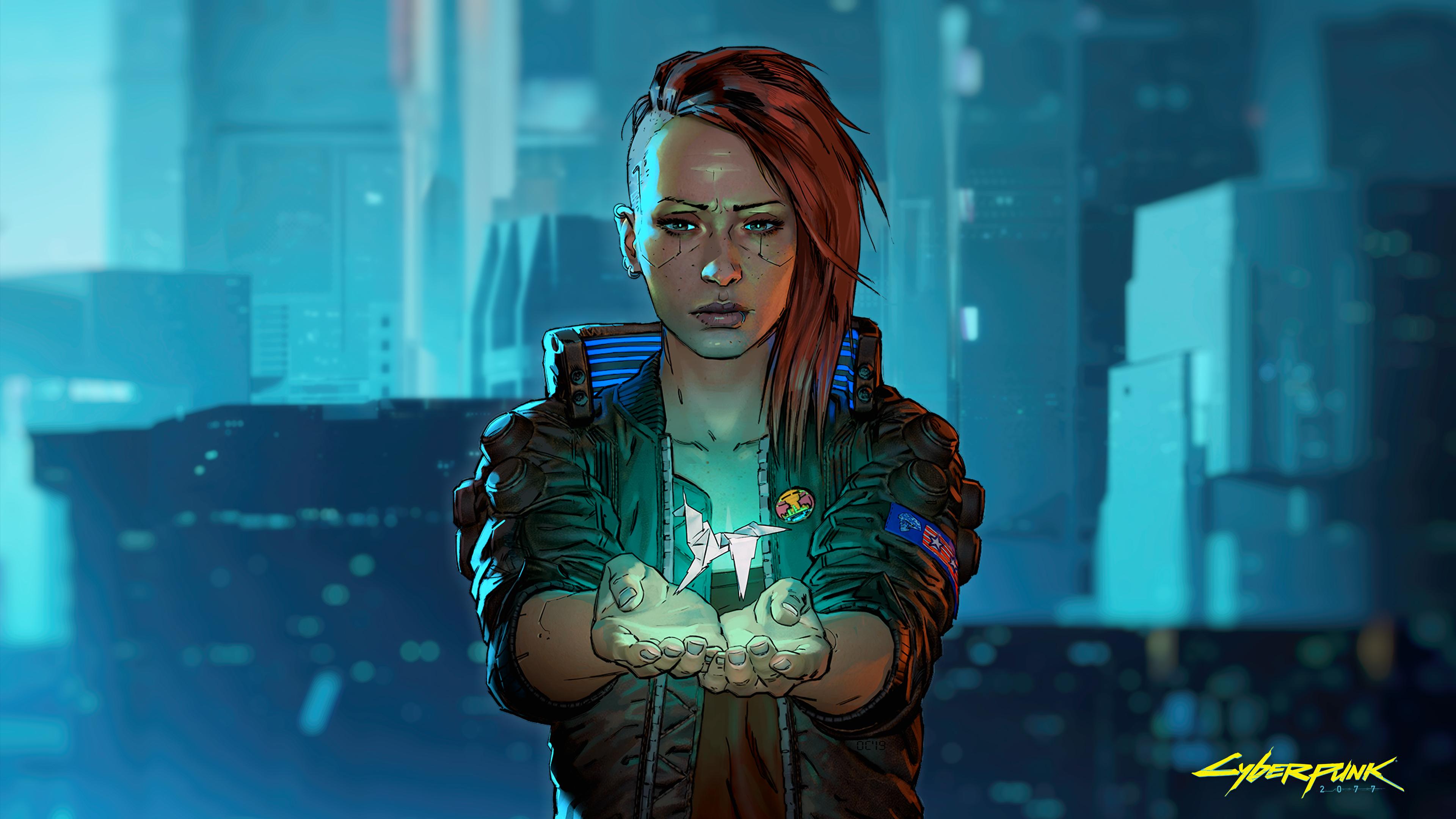 Cyberpunk 2077 Origami 3840x2160