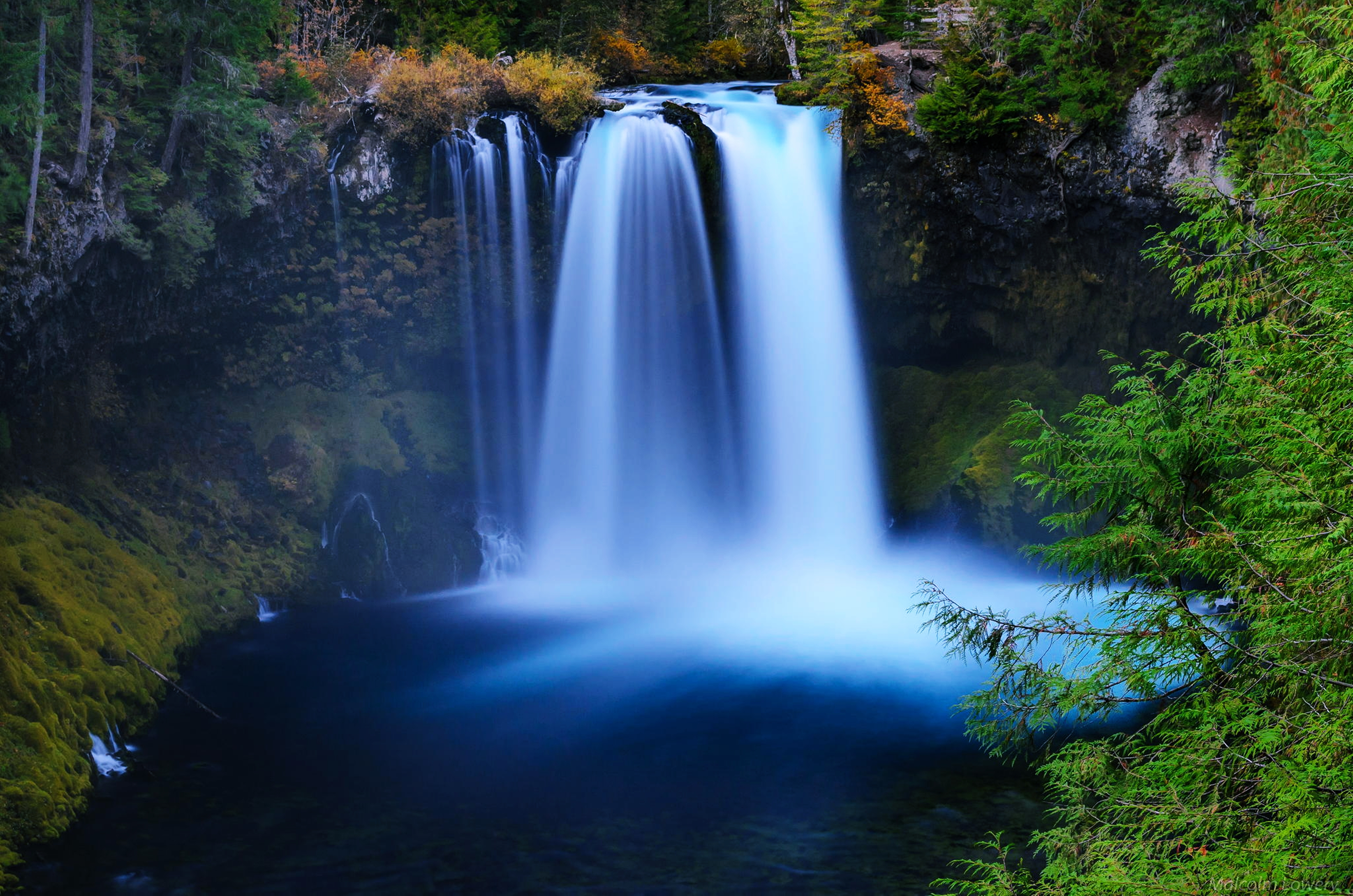 Lake Landscape Nature River Waterfall 3840x2544