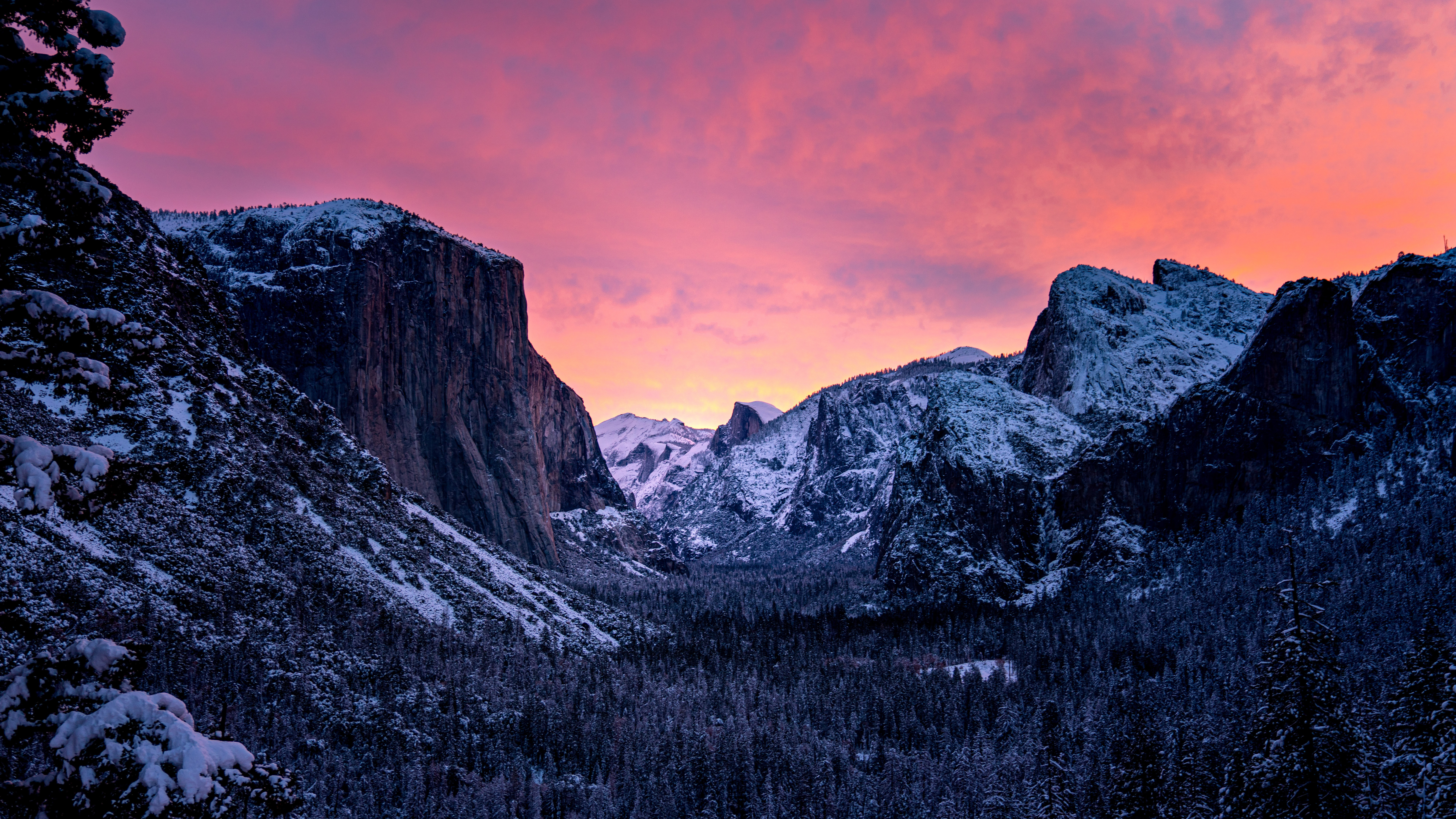 Mountain Yosemite National Park 7680x4320