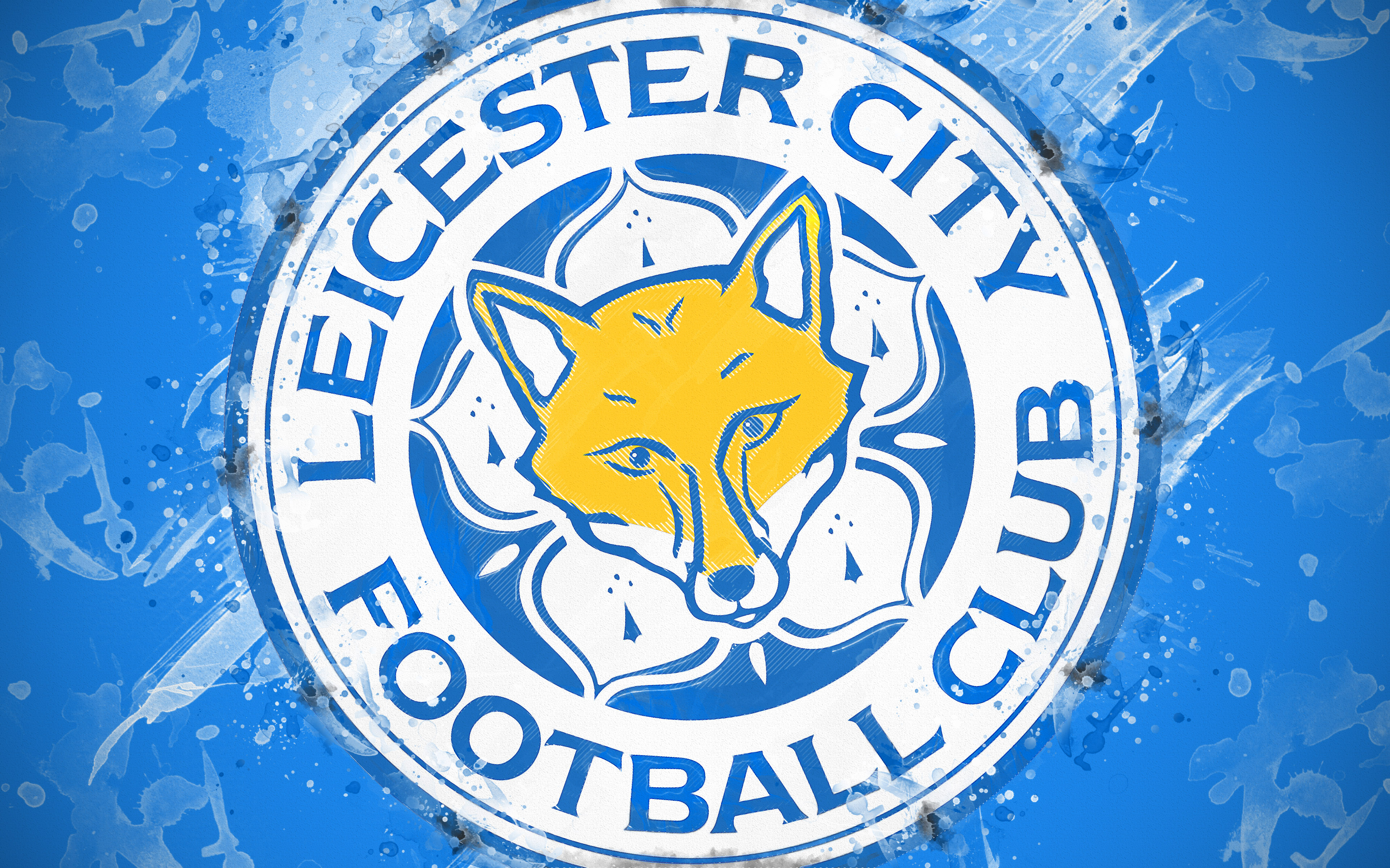 Emblem Leicester City F C Logo Soccer Wallpaper Resolution 3840x2400 Id 1147992 Wallha Com