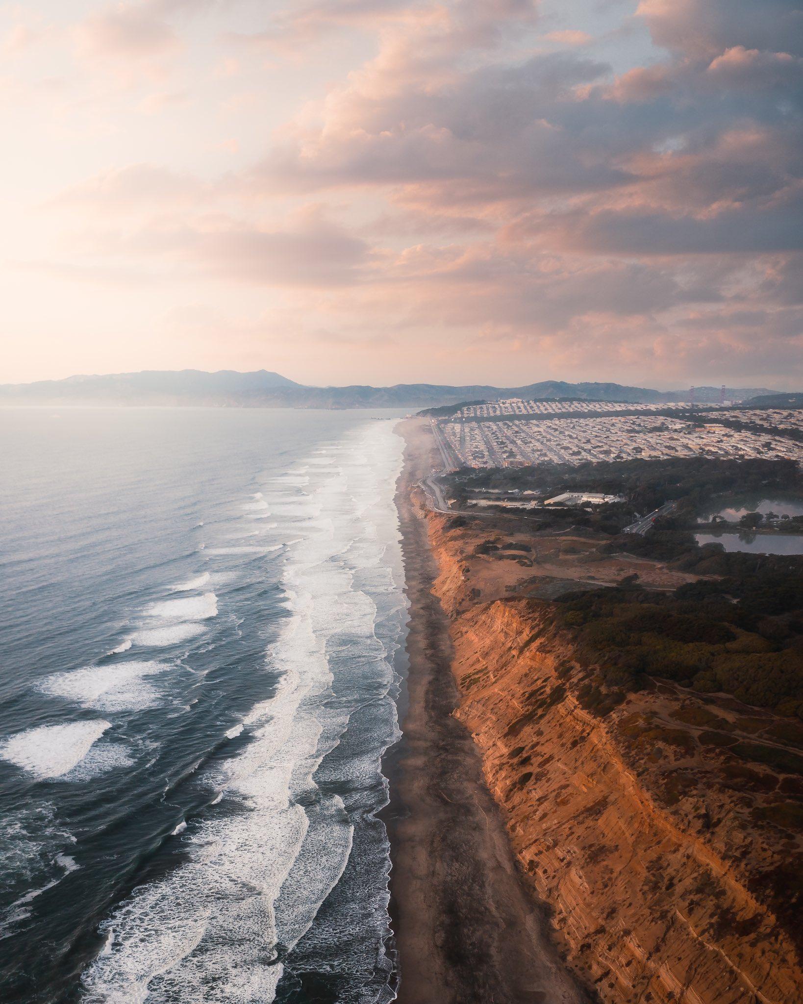 Landscape Nature Portrait Display Beach Waves Sea Cliff 1638x2048