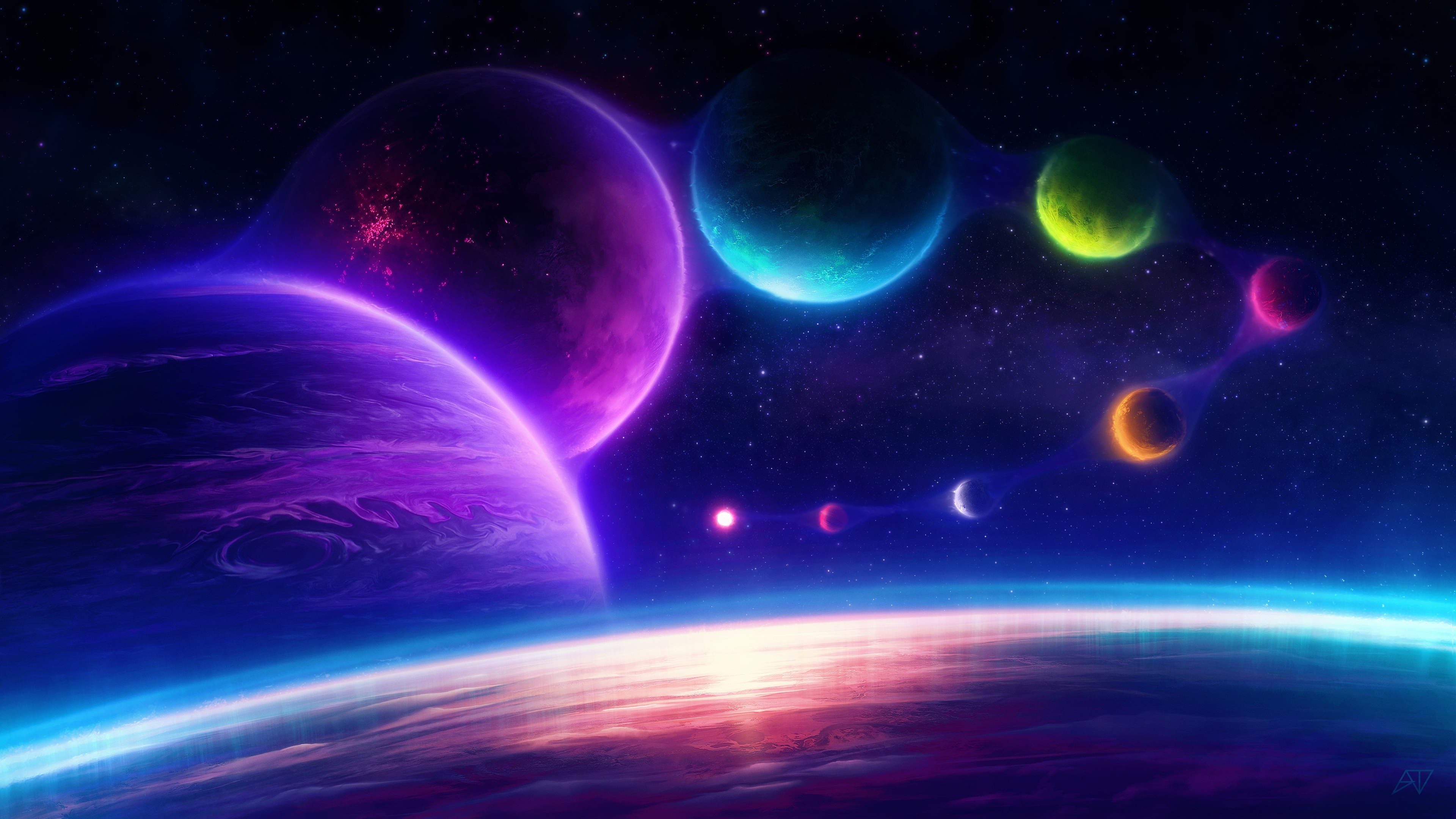 Planet Space 3840x2160