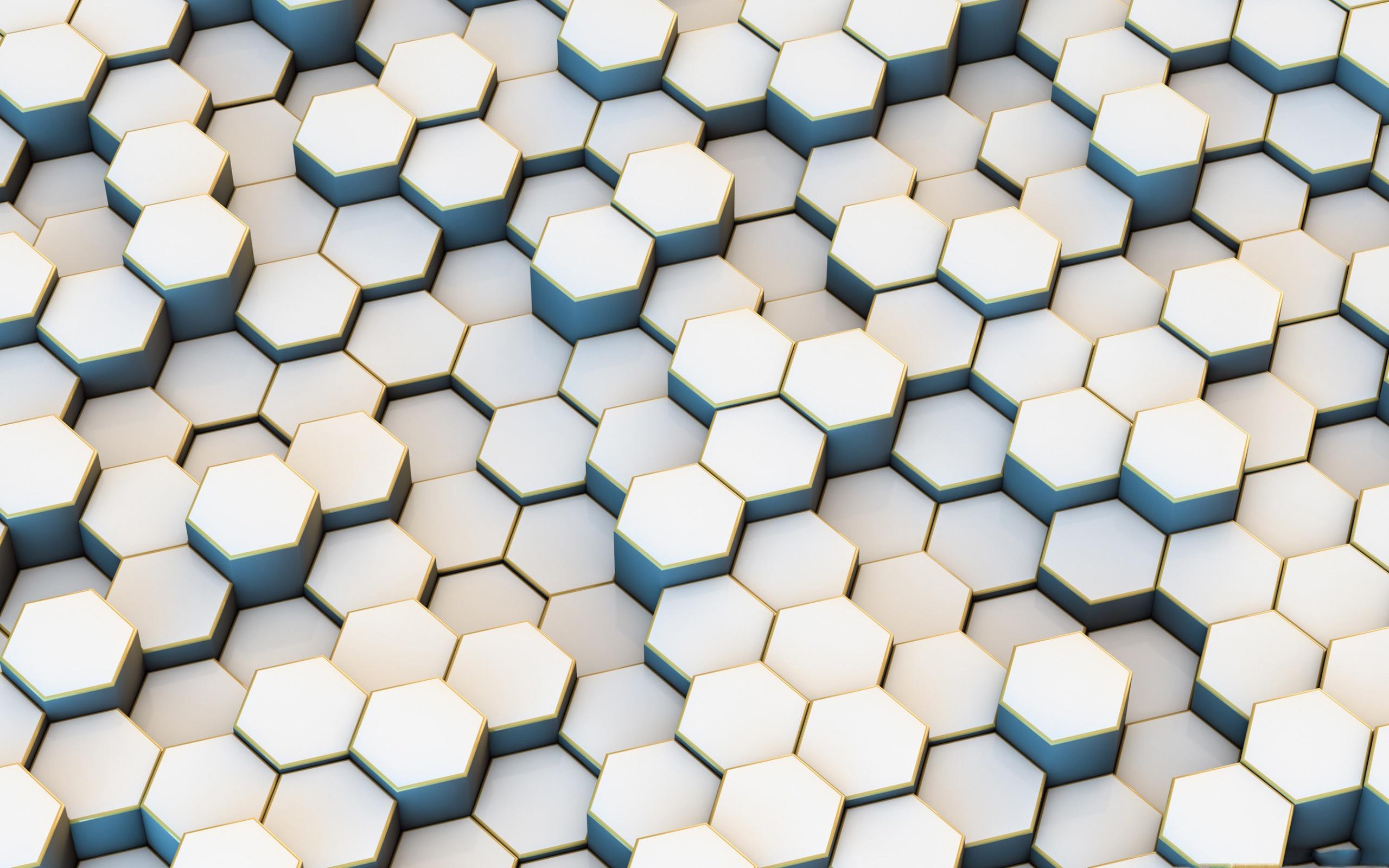 Artistic Digital Art Geometry Hexagon Pattern 2560x1600