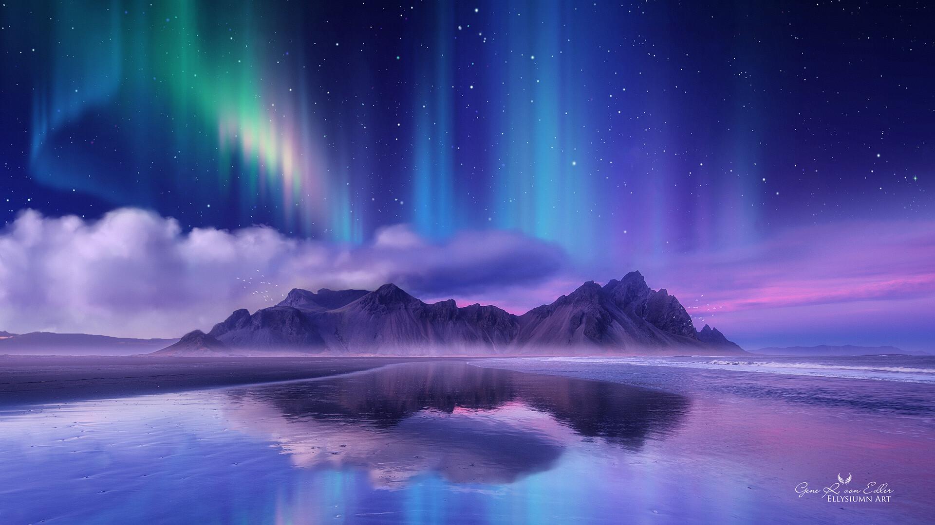 Earth Aurora Borealis 1920x1080