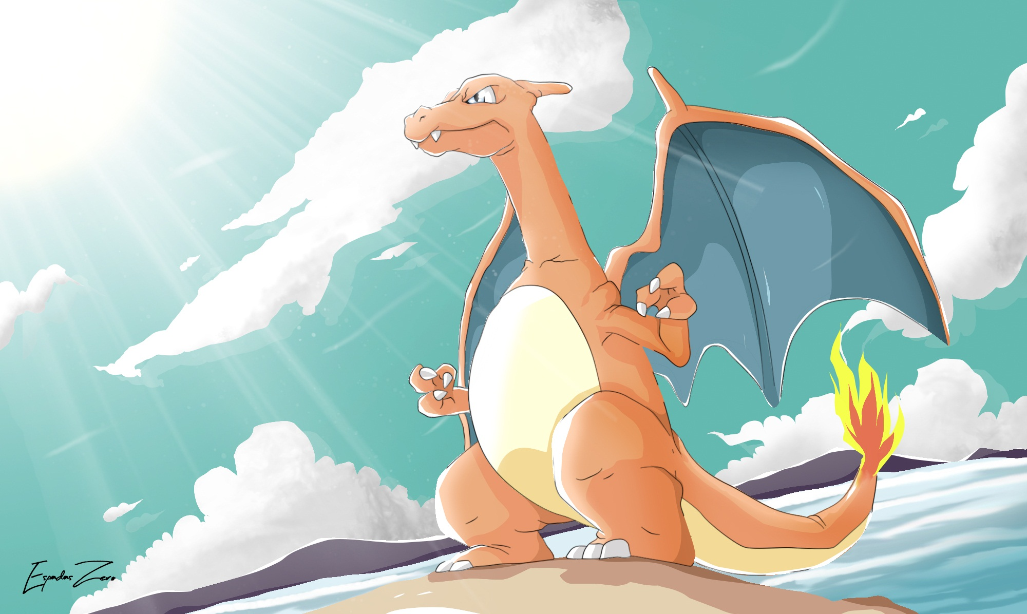 Charizard Pokemon 2000x1196