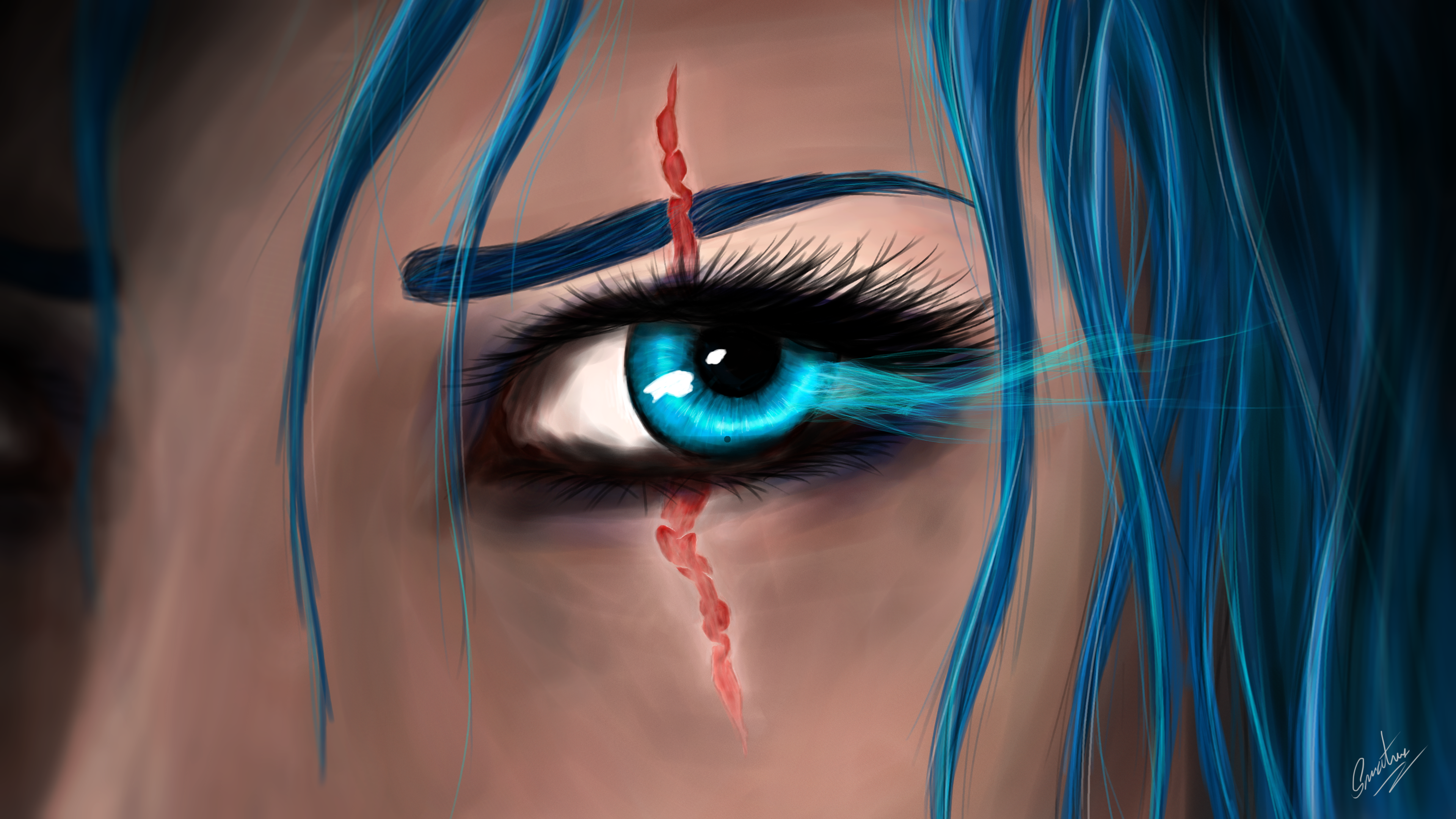 Eye Katarina League Of Legends League Of Legends Scar 3840x2160