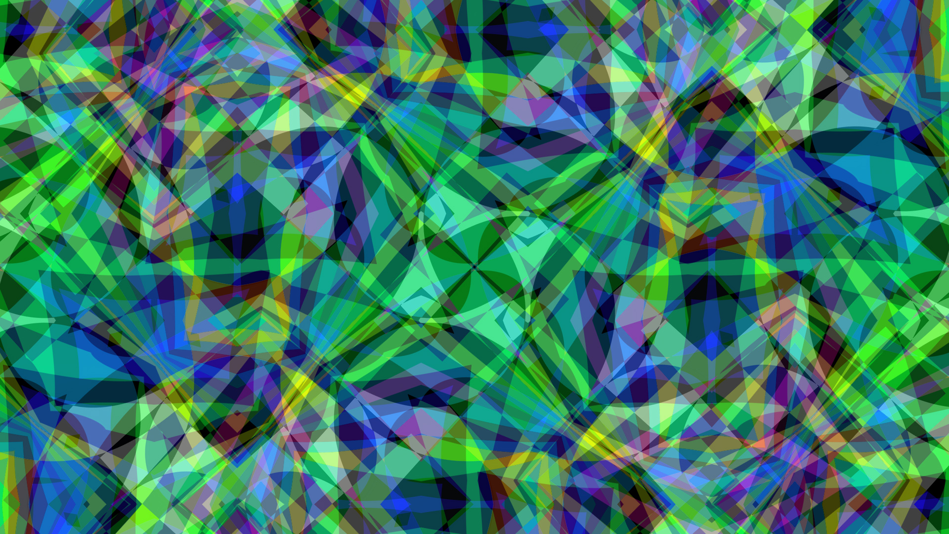Blue Colorful Colors Green Pattern Shapes 1920x1080