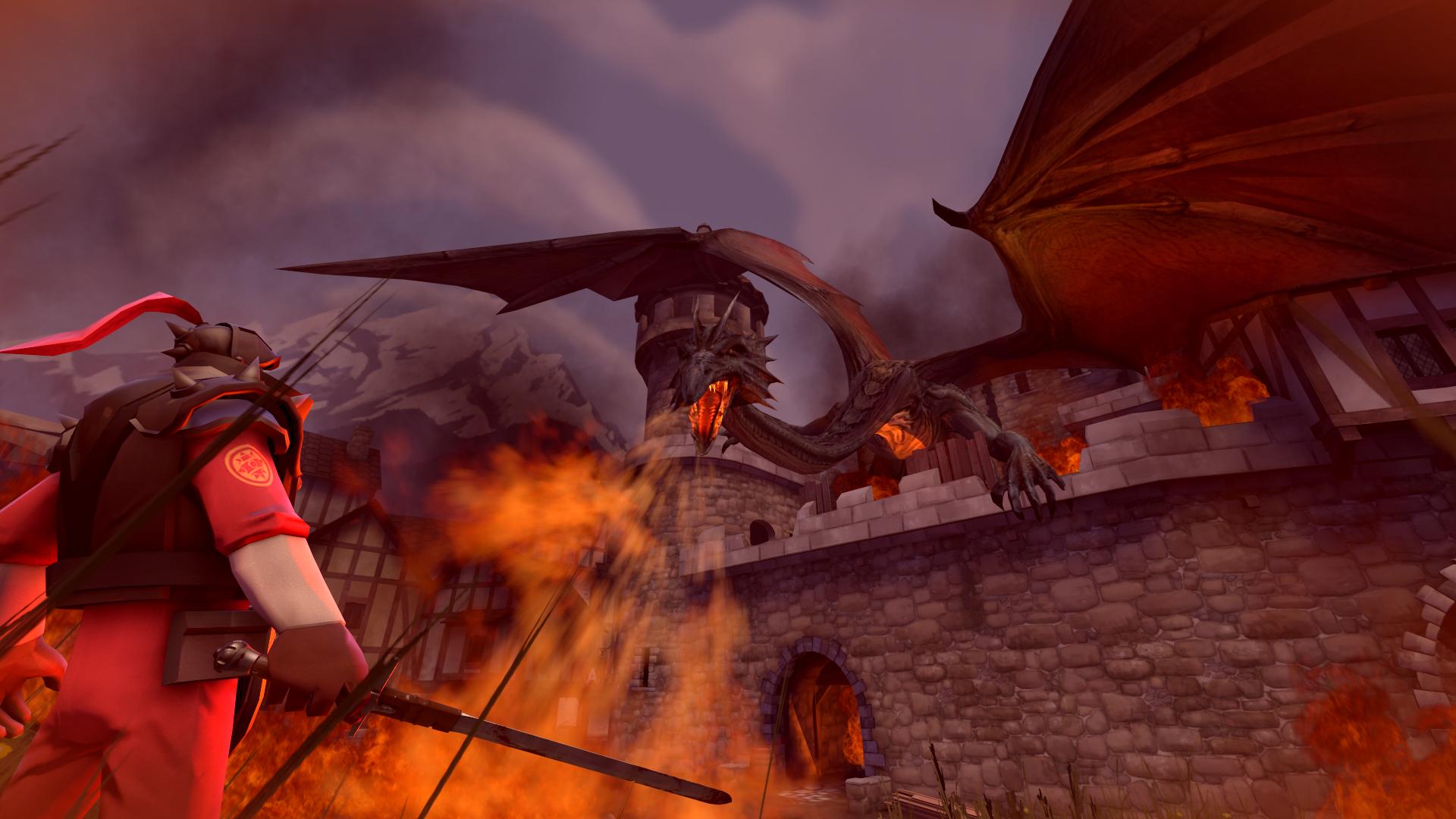 Dragon Fire Team Fortress 2 1920x1080