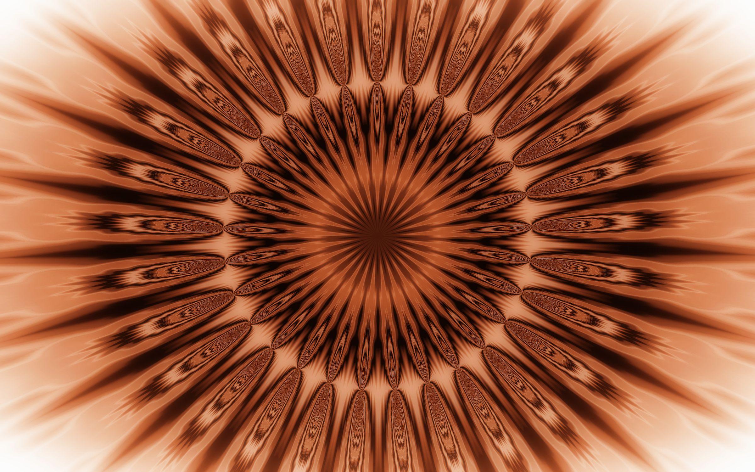 Artistic Brown Digital Art Kaleidoscope Pattern 2400x1500