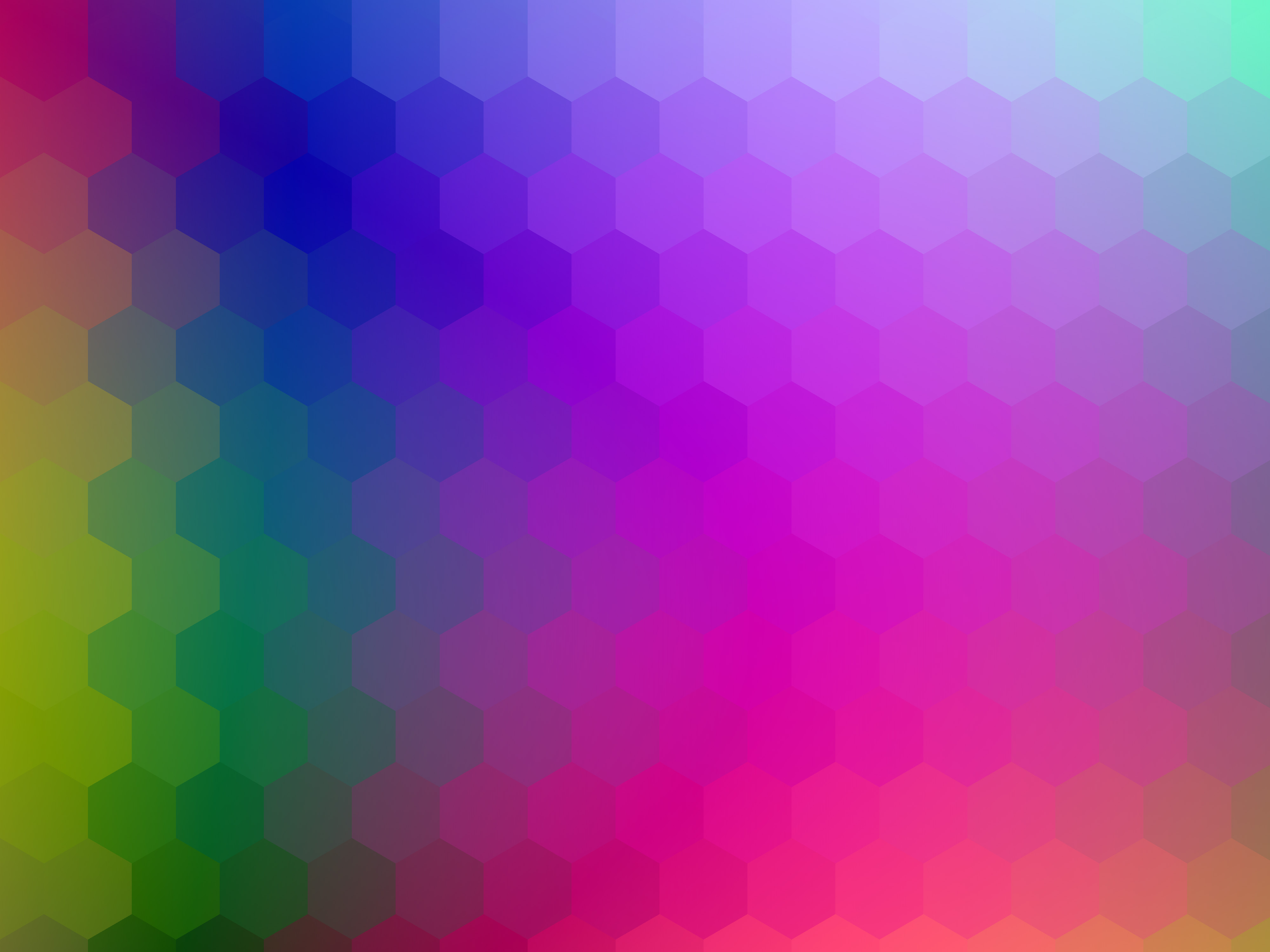 Artistic Colorful Colors Geometry Hexagon Pattern 4000x3000