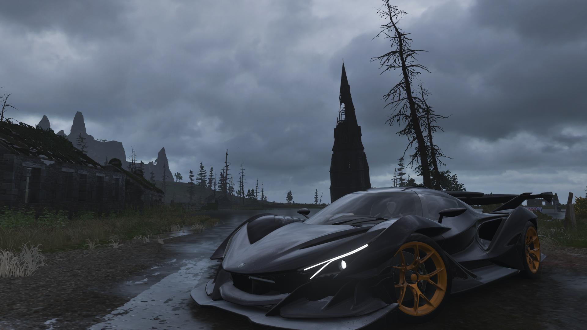 Forza Horizon 4 Screen Shot Car Video Games Vehicle Black Cars 1920x1080