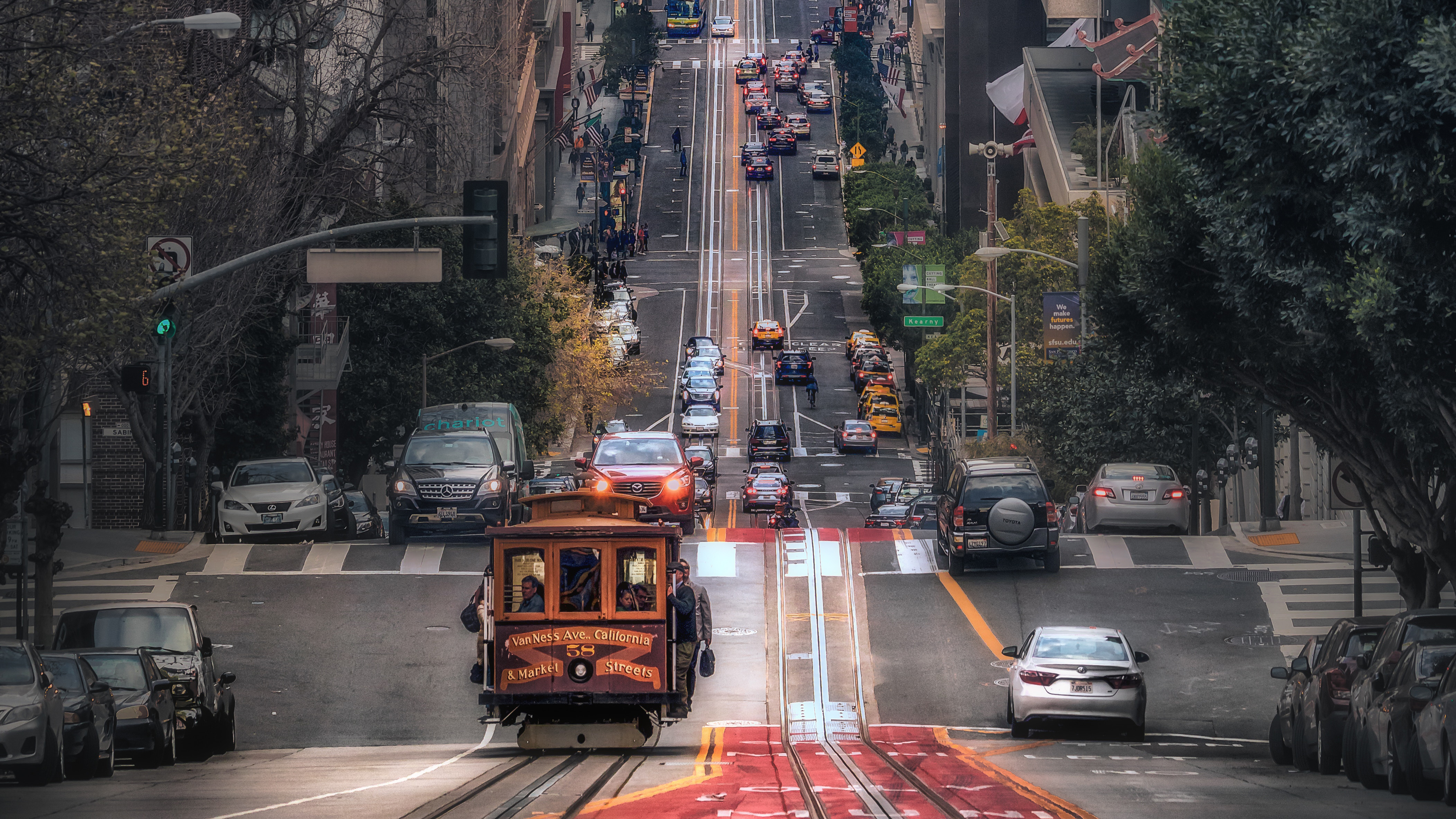 Road San Francisco Traffic 4206x2366