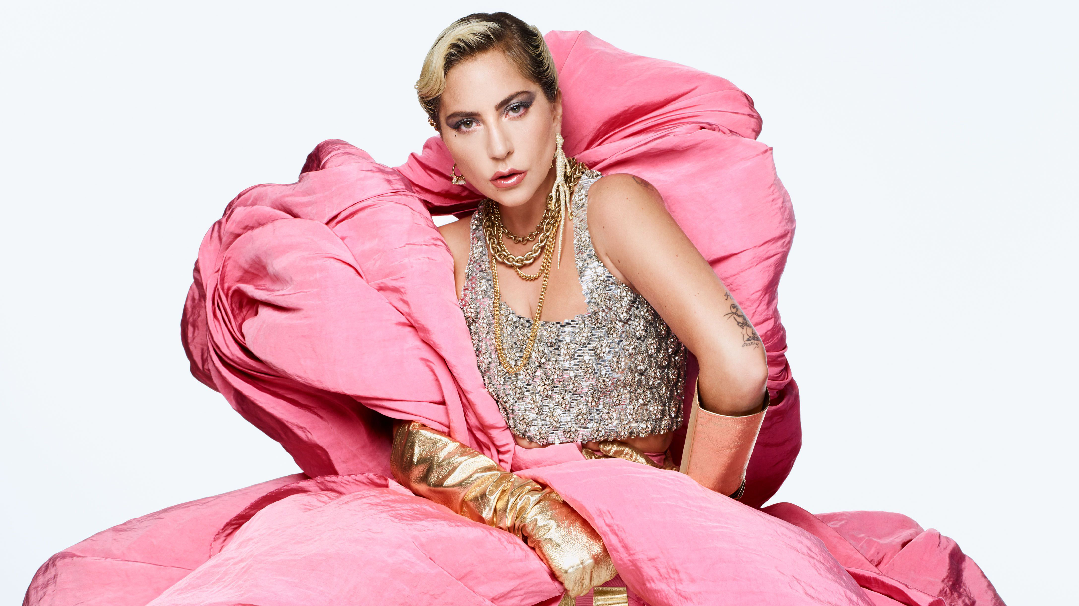American Blonde Lady Gaga Singer 4350x2447