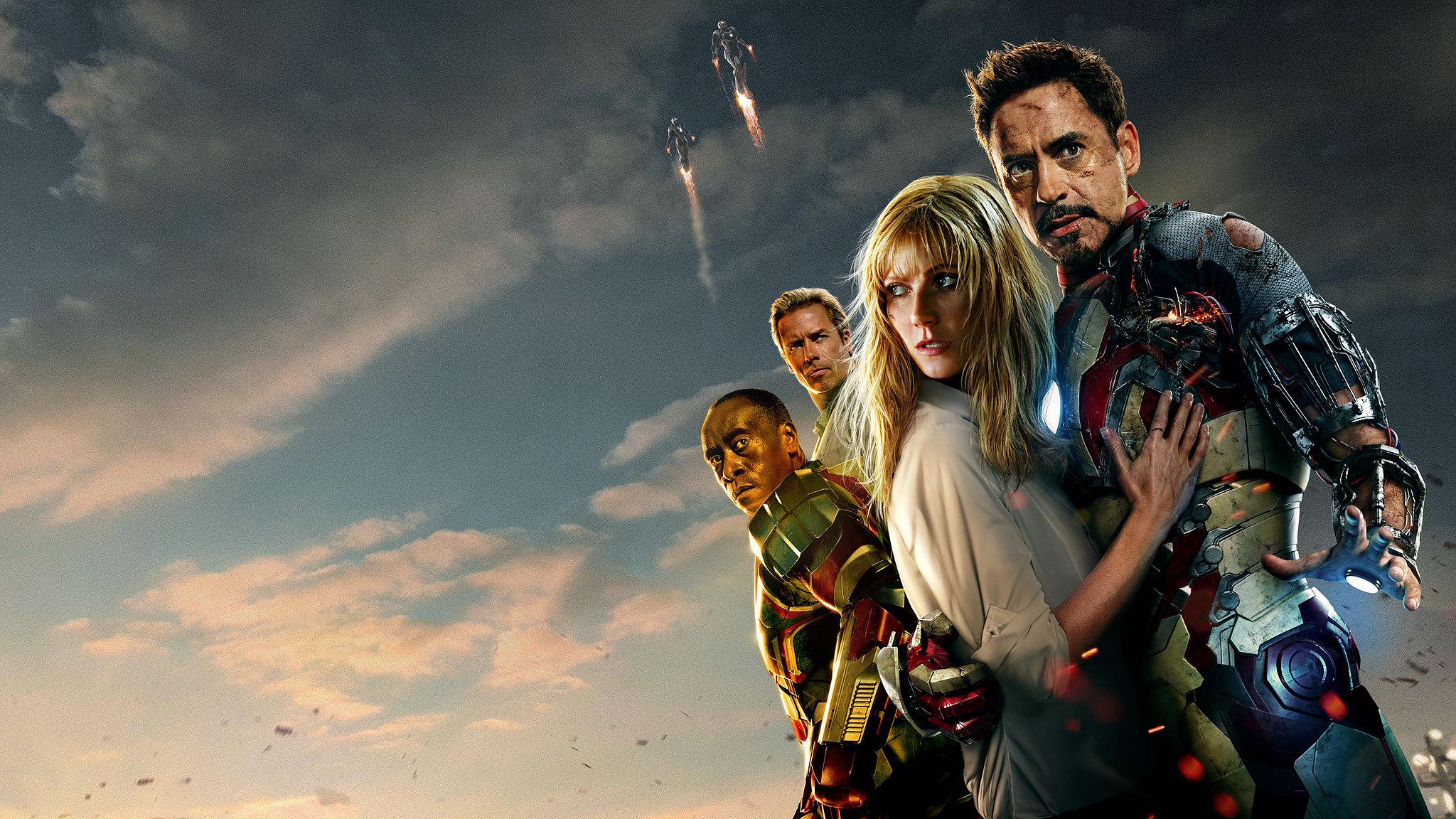 Iron Man Iron Man 3 Pepper Potts Robert Downey Jr War Machine 2048x1152