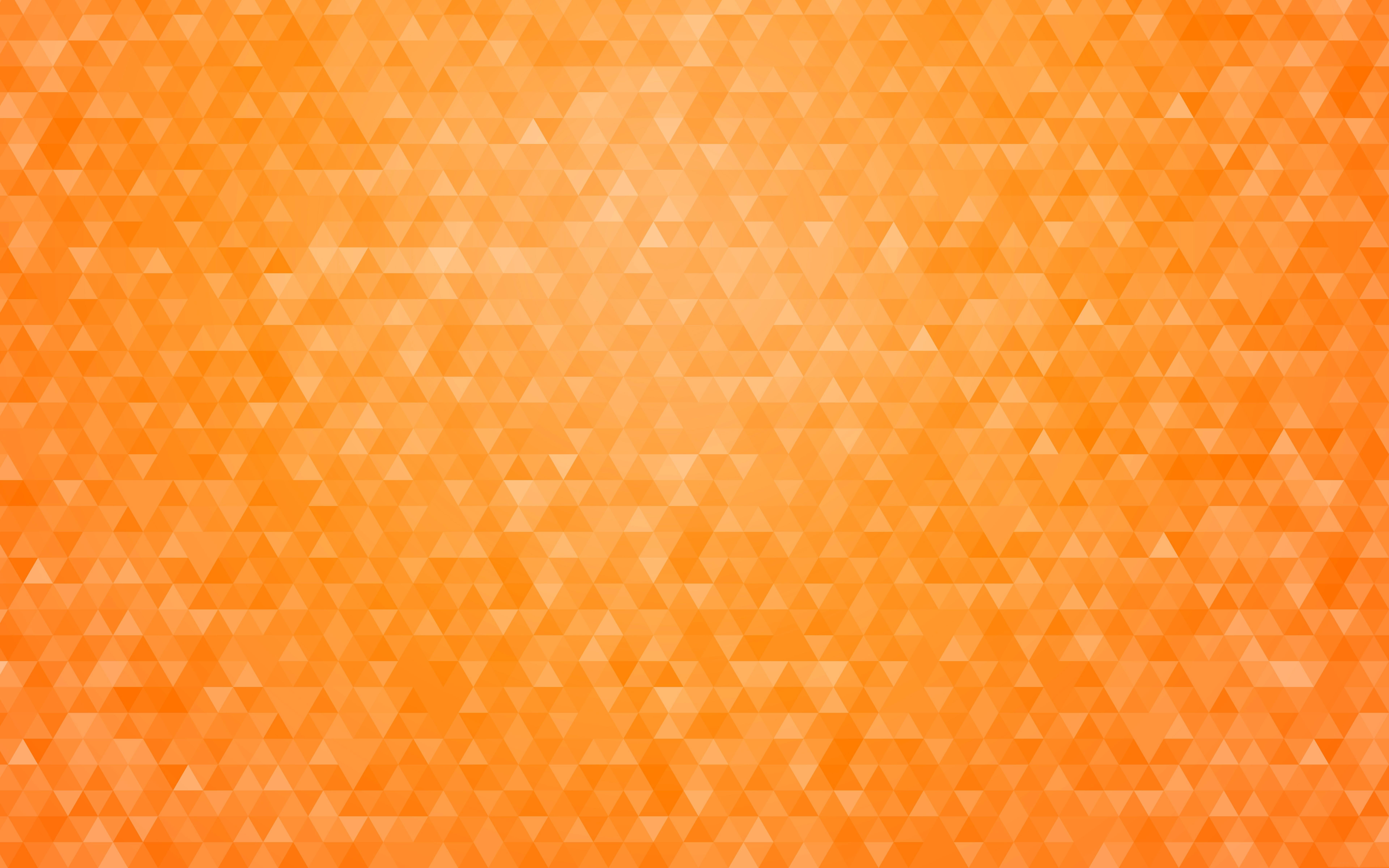 Artistic Geometry Pattern Triangle Orange Color 7680x4800