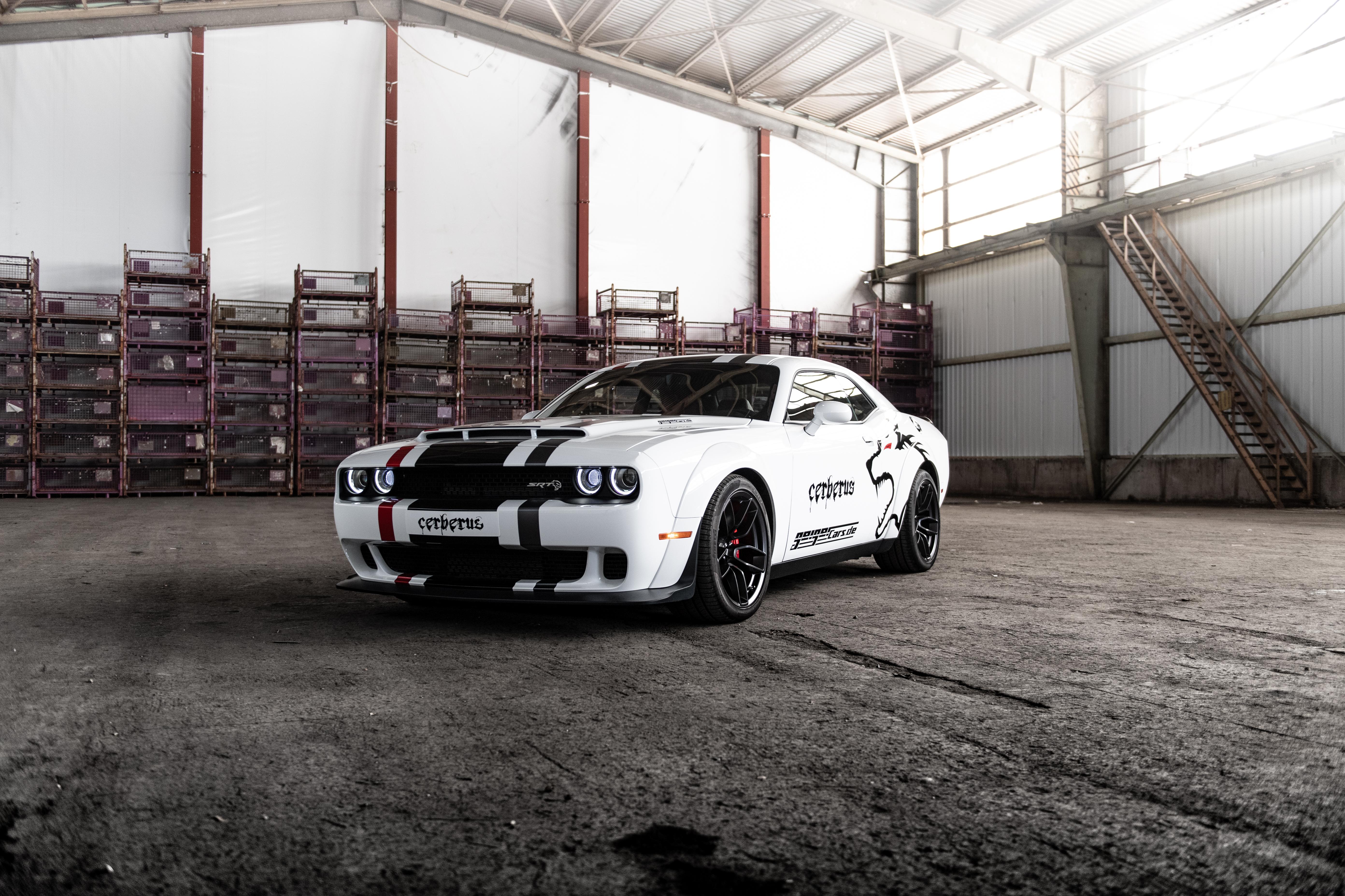 Car Dodge Dodge Challenger Dodge Challenger Srt Muscle Car Vehicle White Car 5568x3712