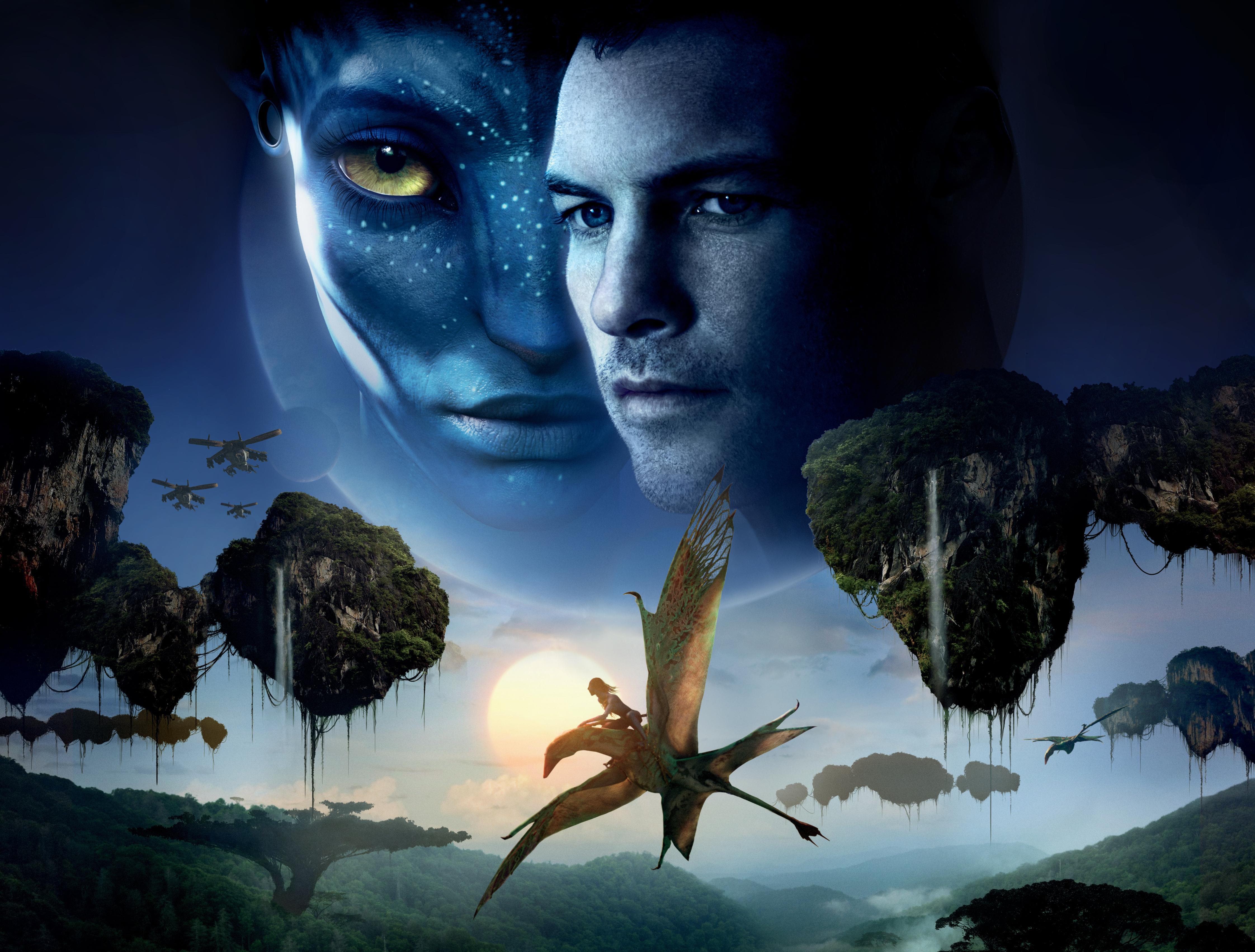 Avatar Sam Worthington Zoe Saldana 4488x3404