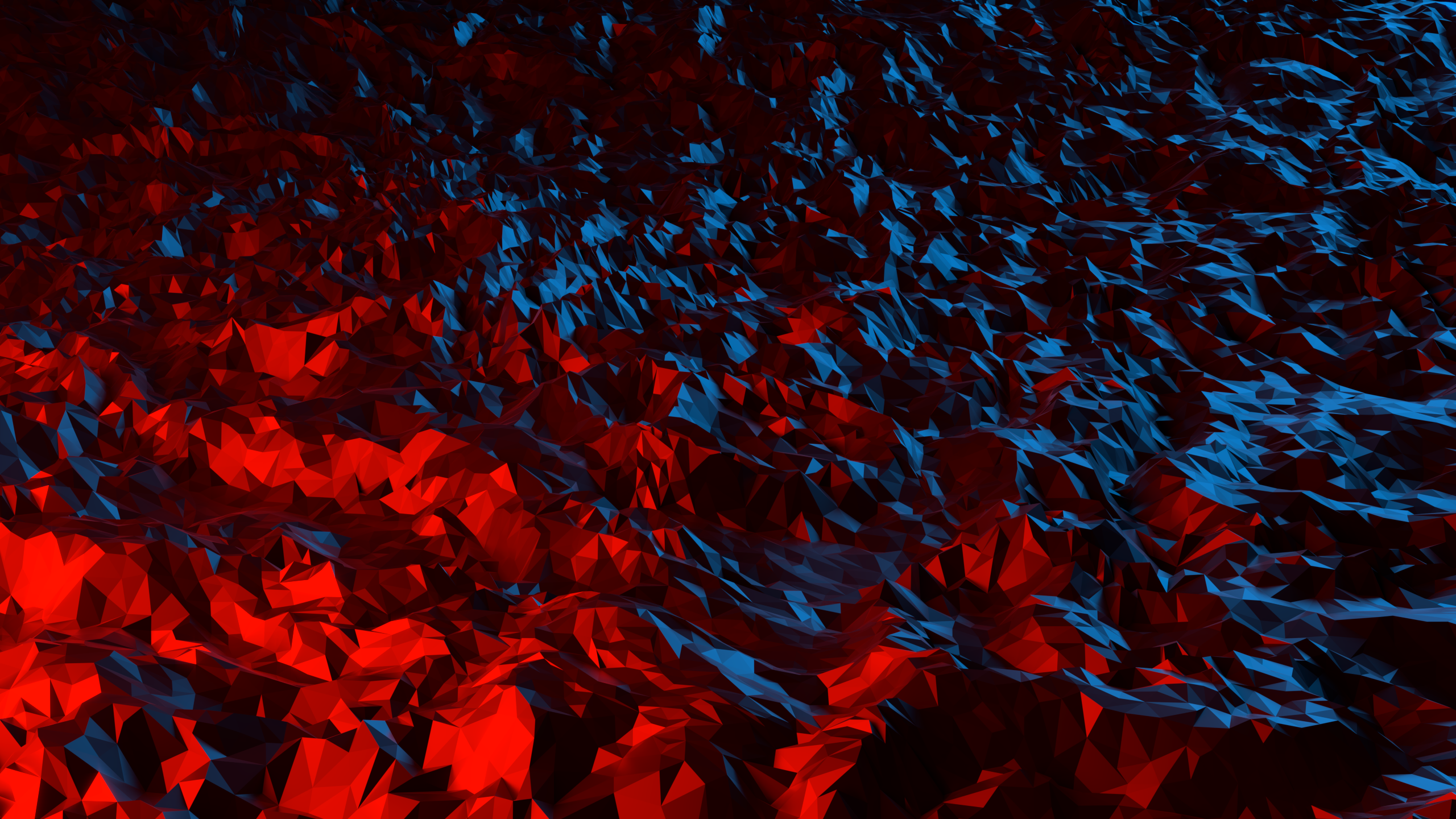 Geometry Low Poly Red 2560x1440