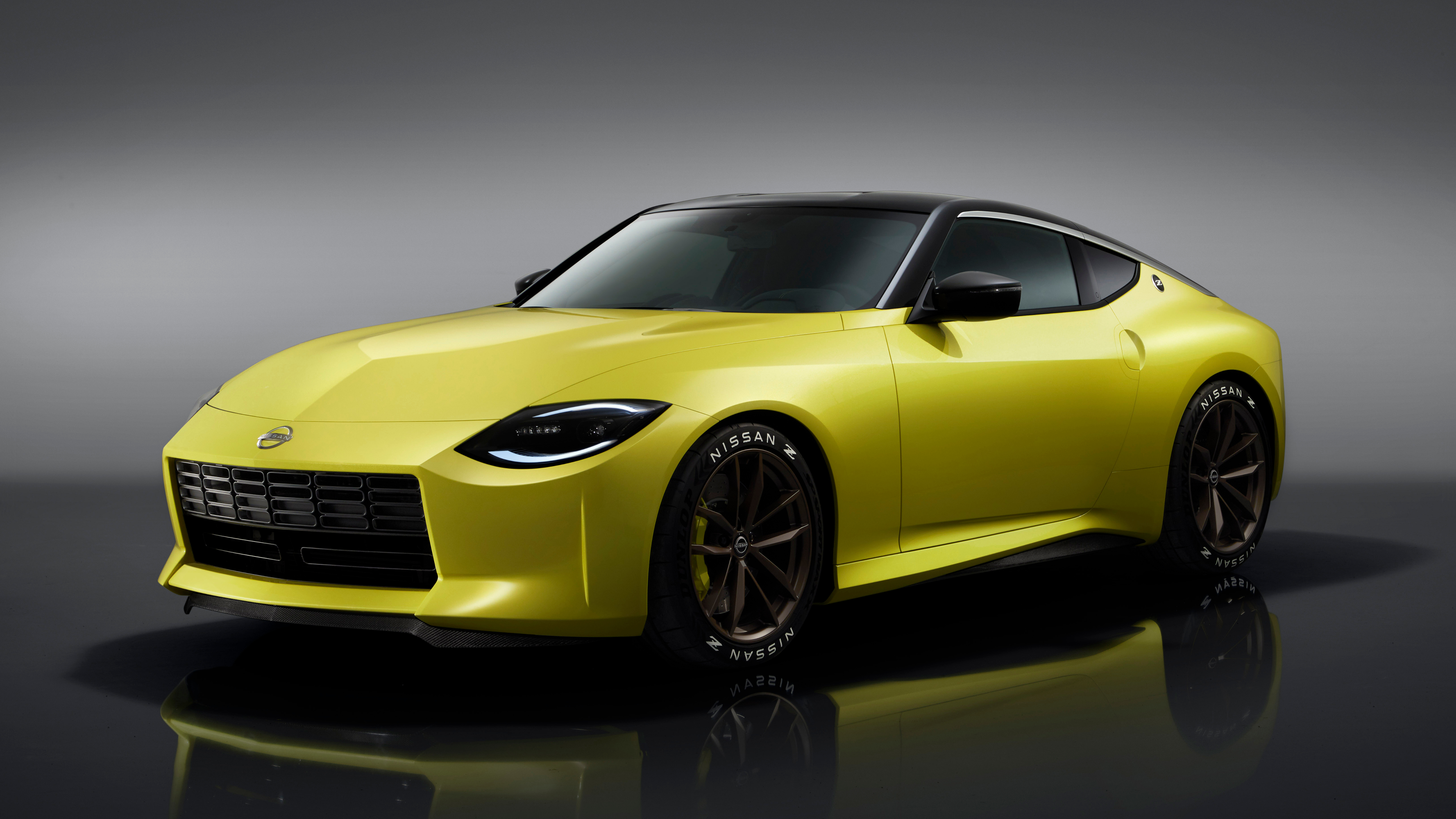 Nissan 400Z Nissan Car Vehicle Yellow Cars Sports Car 3840x2160