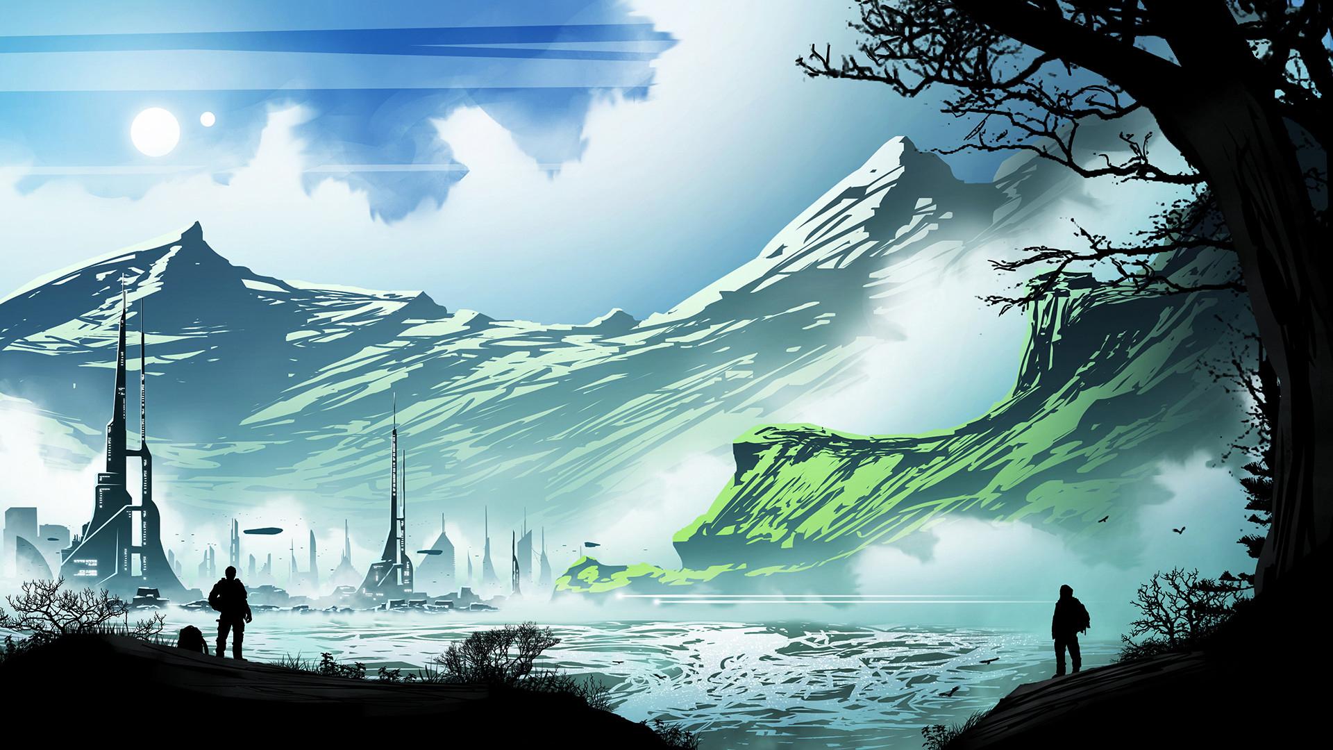 Sci Fi Landscape 1920x1080