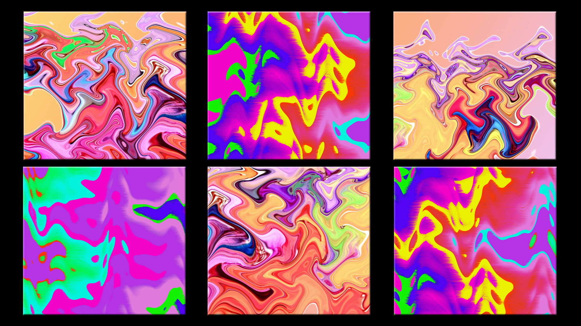 Artistic Colorful Digital Art Distortion Pop Art Ripple Wave 1920x1080
