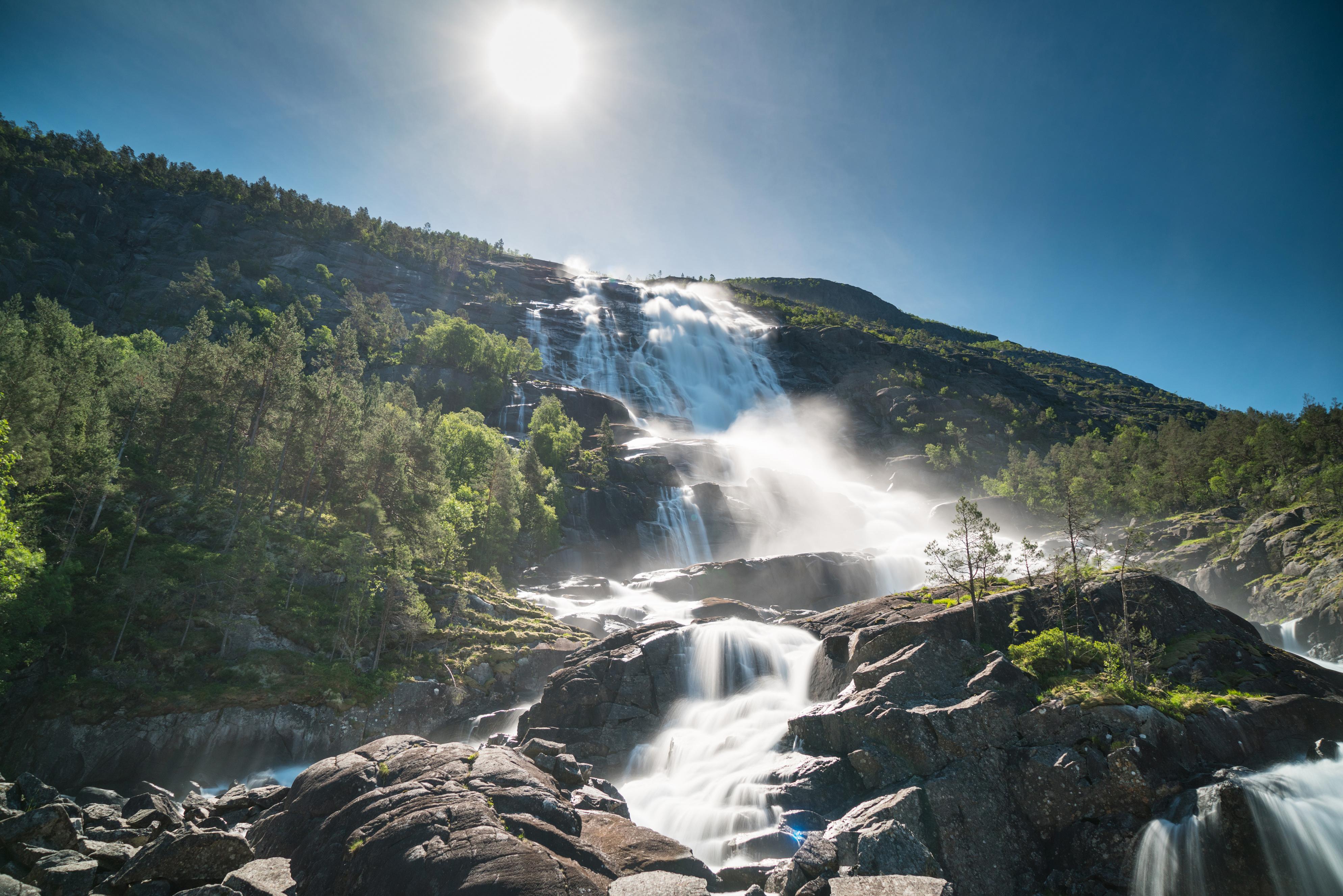 Nature Norway Waterfall 3976x2652