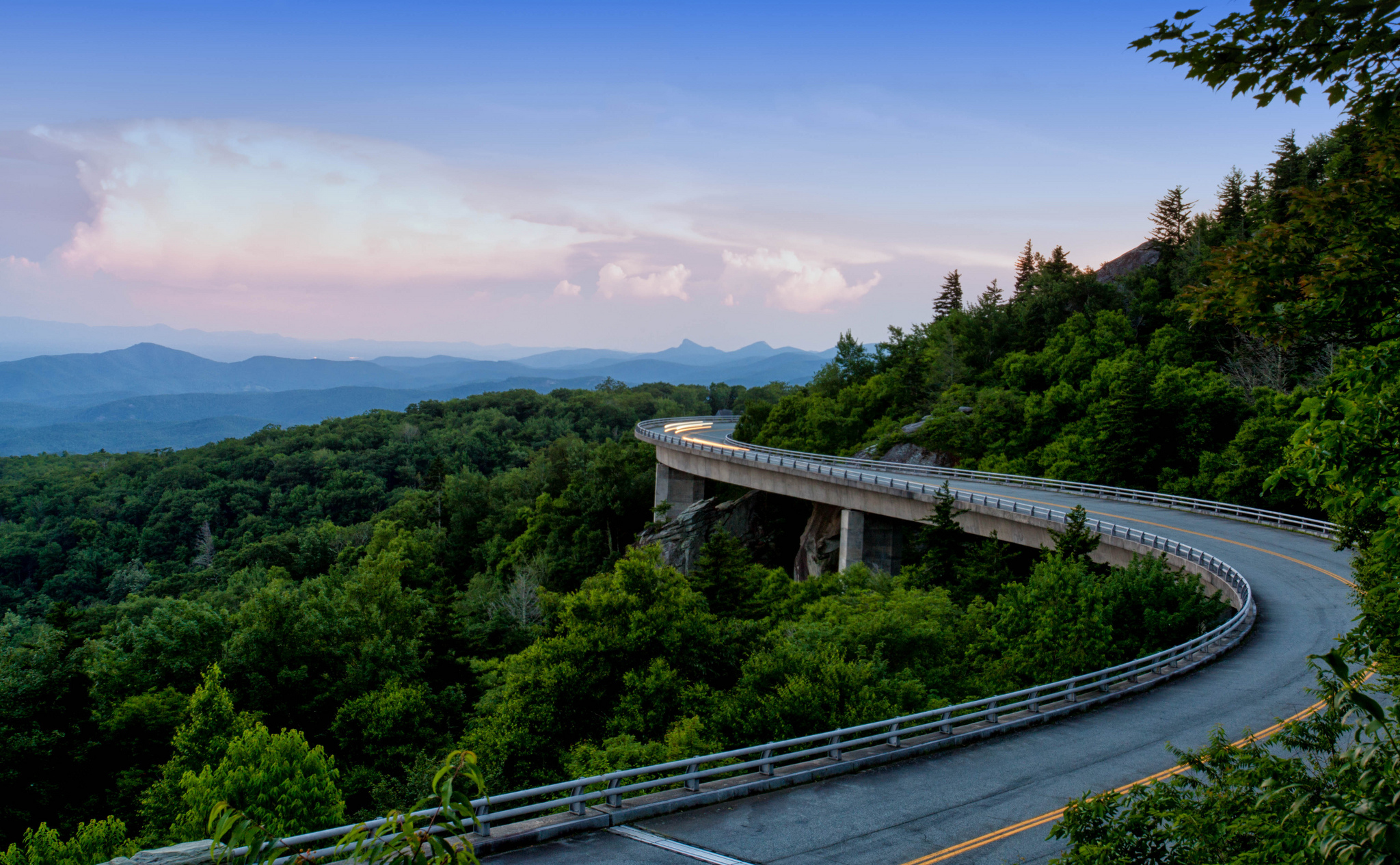 Appalachian Mountains Forest Mountain Road 2048x1265