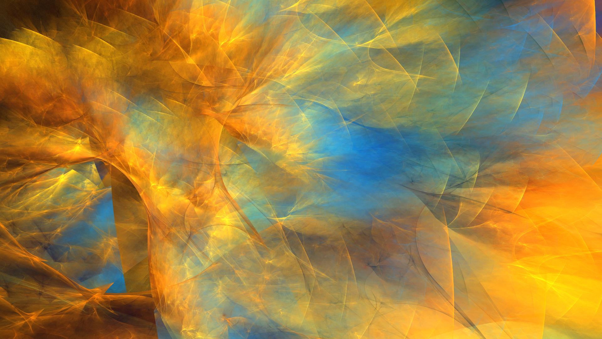 Abstract Apophysis Software Artistic Colors Digital Art Fractal Shapes 1920x1080