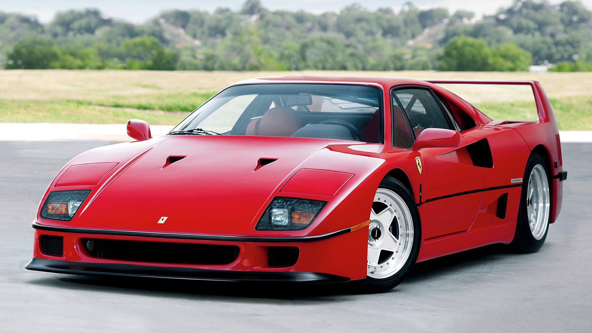 Car Ferrari F40 Red Car Sport Car Supercar 1920x1080