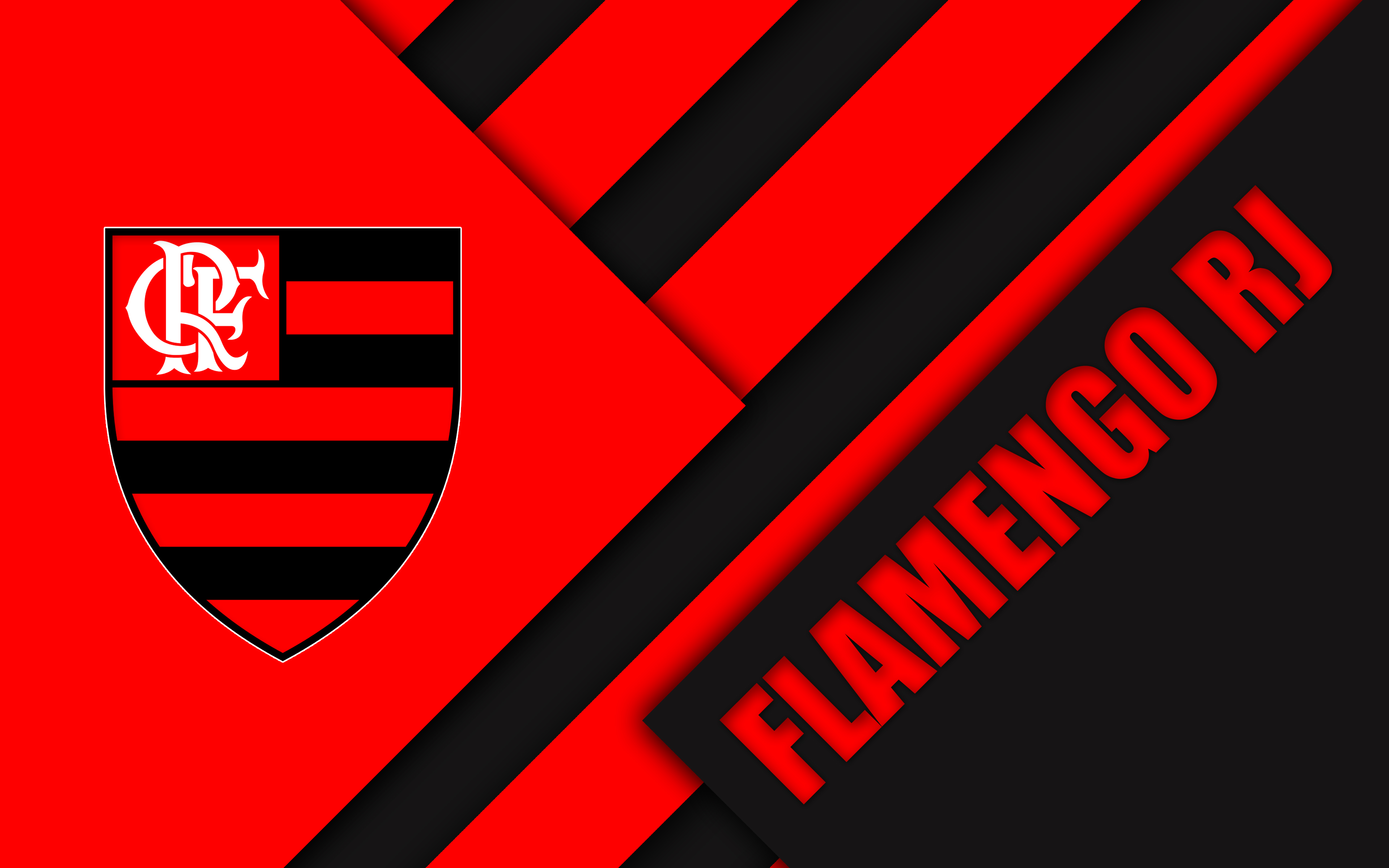 Clube De Regatas Do Flamengo Logo Soccer 3840x2400