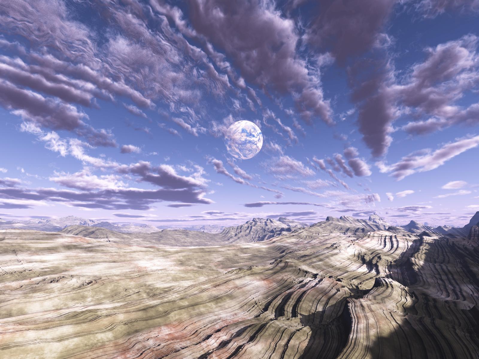 Cloud Desert Landscape Mountain Sky 1600x1200