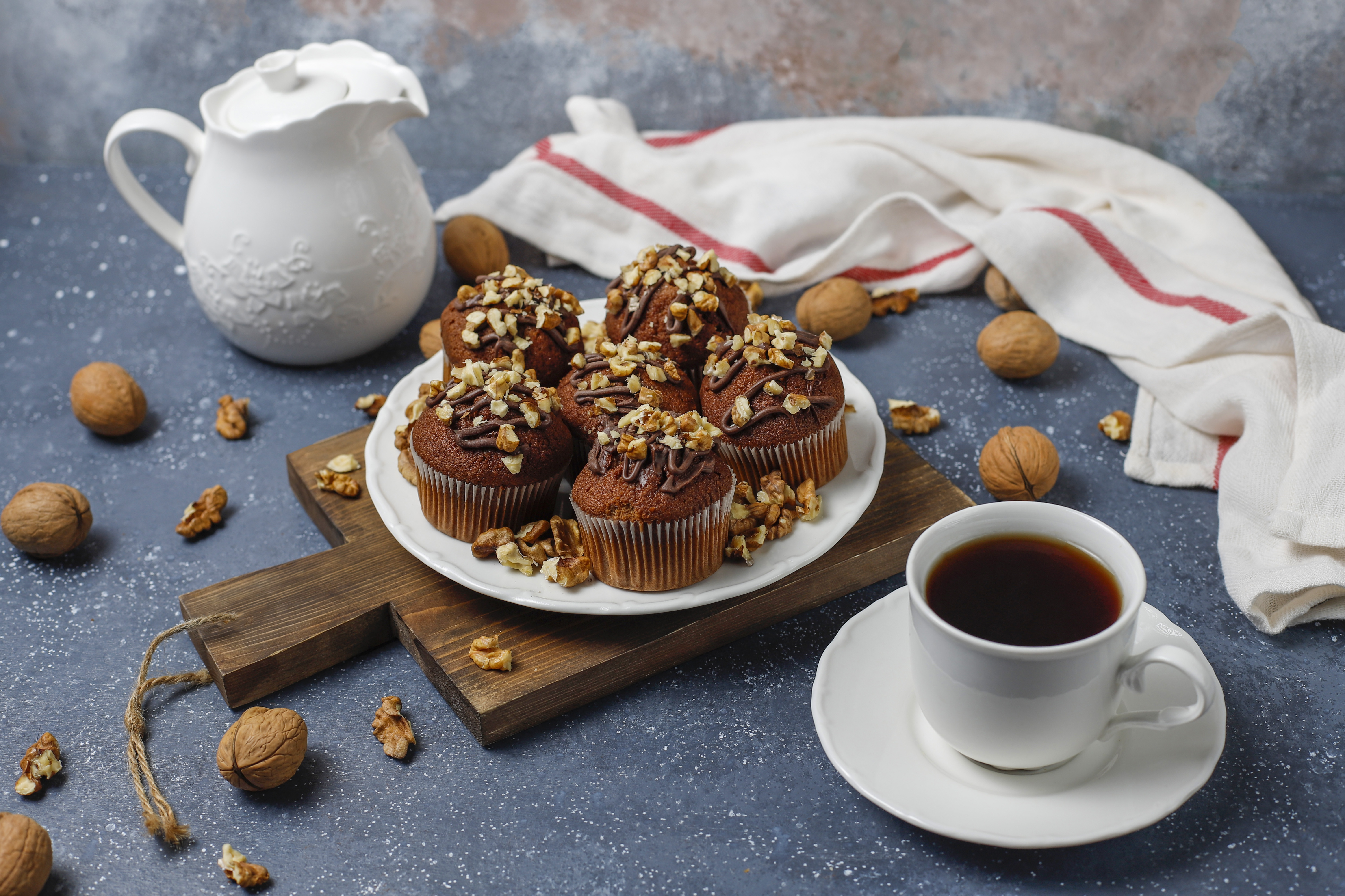 Coffee Cup Cupcake Drink Still Life 6000x3999