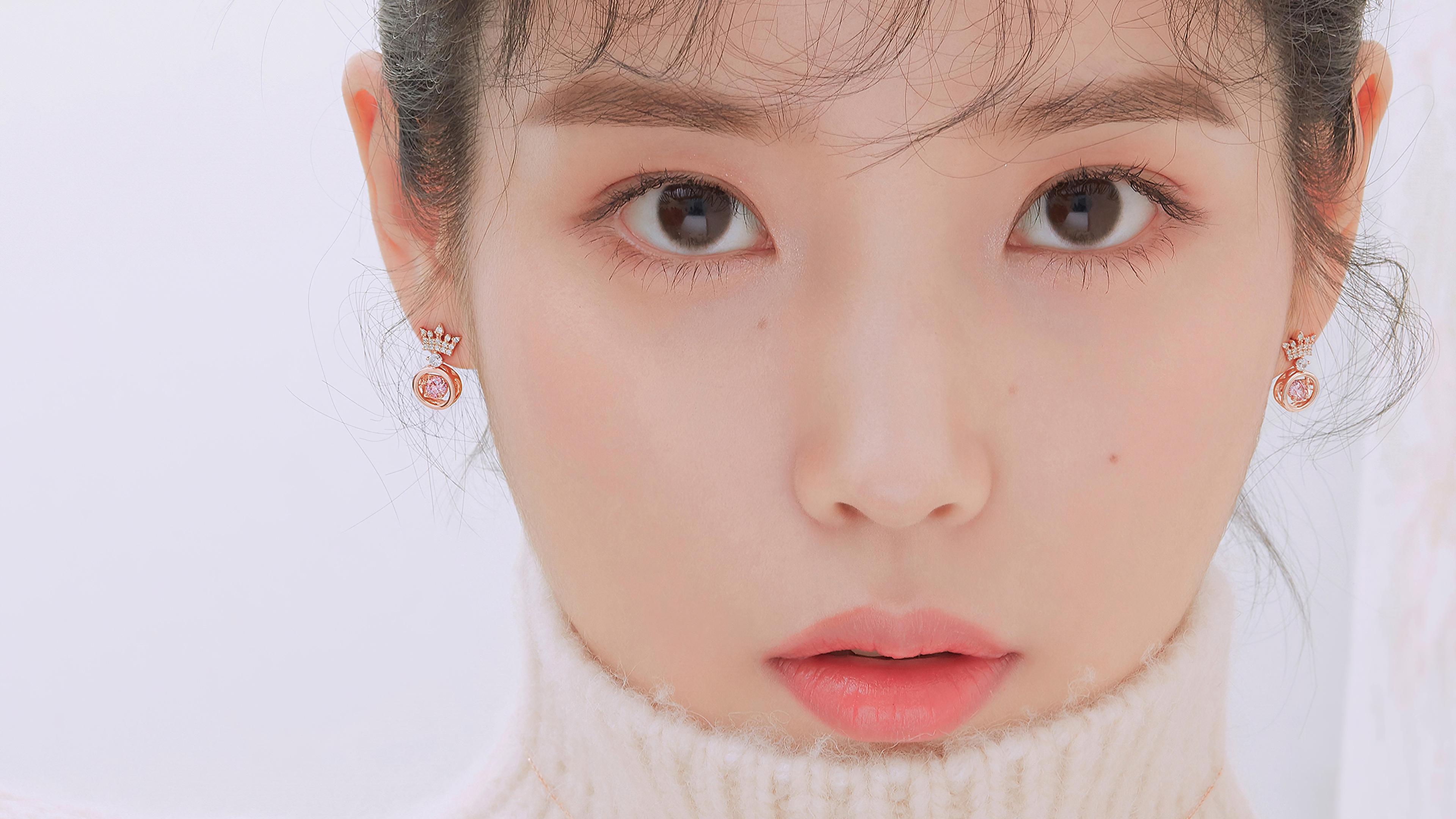 IU Iu Lee Ji Eun Lee Ji Eun Korean Korean Women K Pop Singer Actress Asian Looking At Viewer Closeup 3840x2160