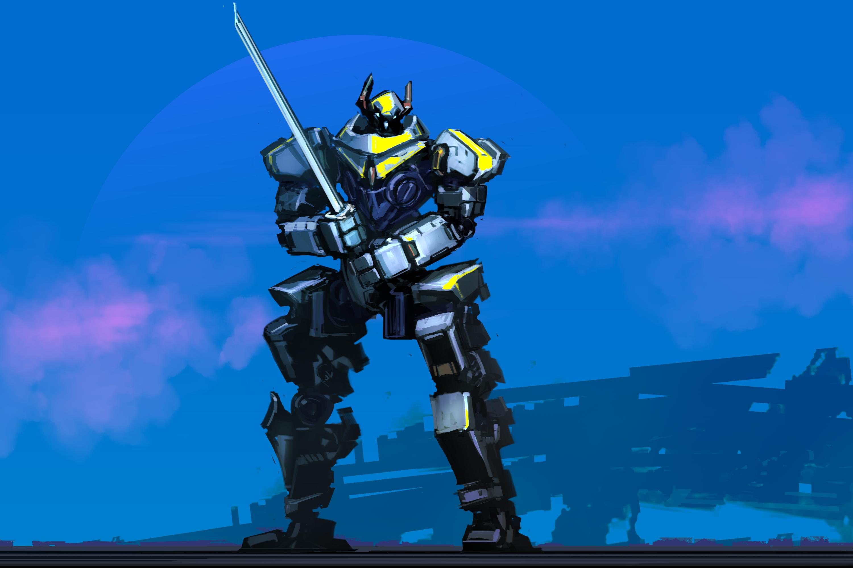 Robot Samurai Sword Weapon 3000x2000
