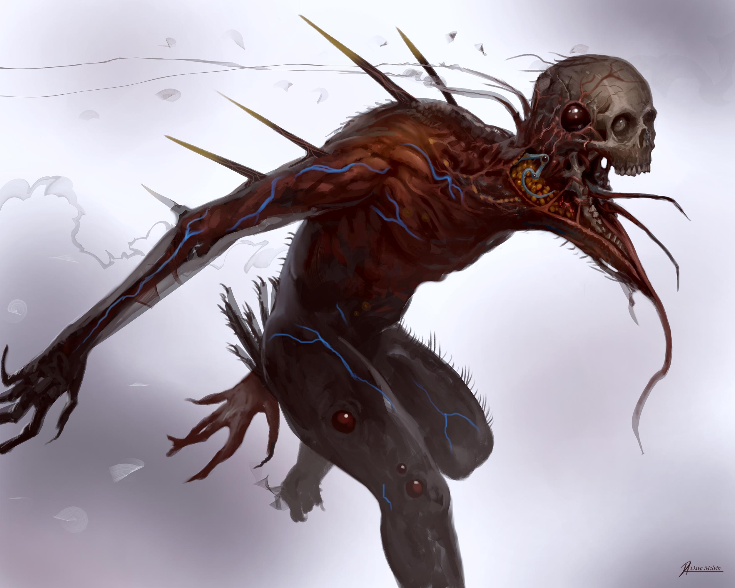 Creature Creepy Skull 2500x2000