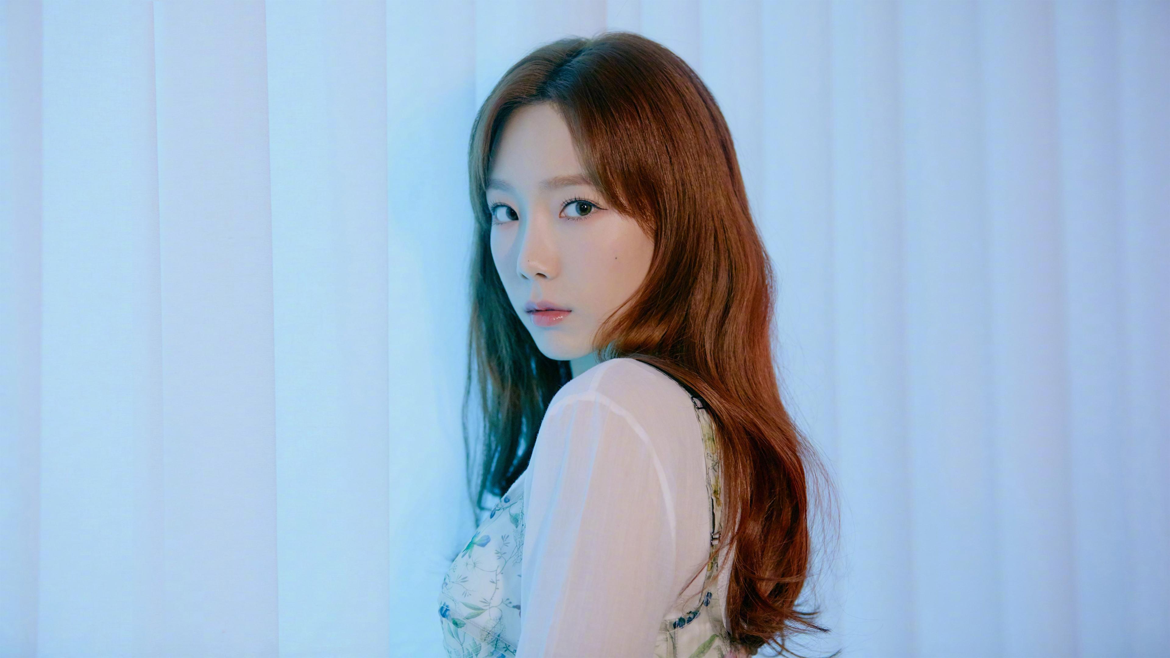 SNSD Taeyeon Kim Taeyeon K Pop SNSD Girls Generation Asian Korean Looking At Viewer Women Brunette 3840x2160