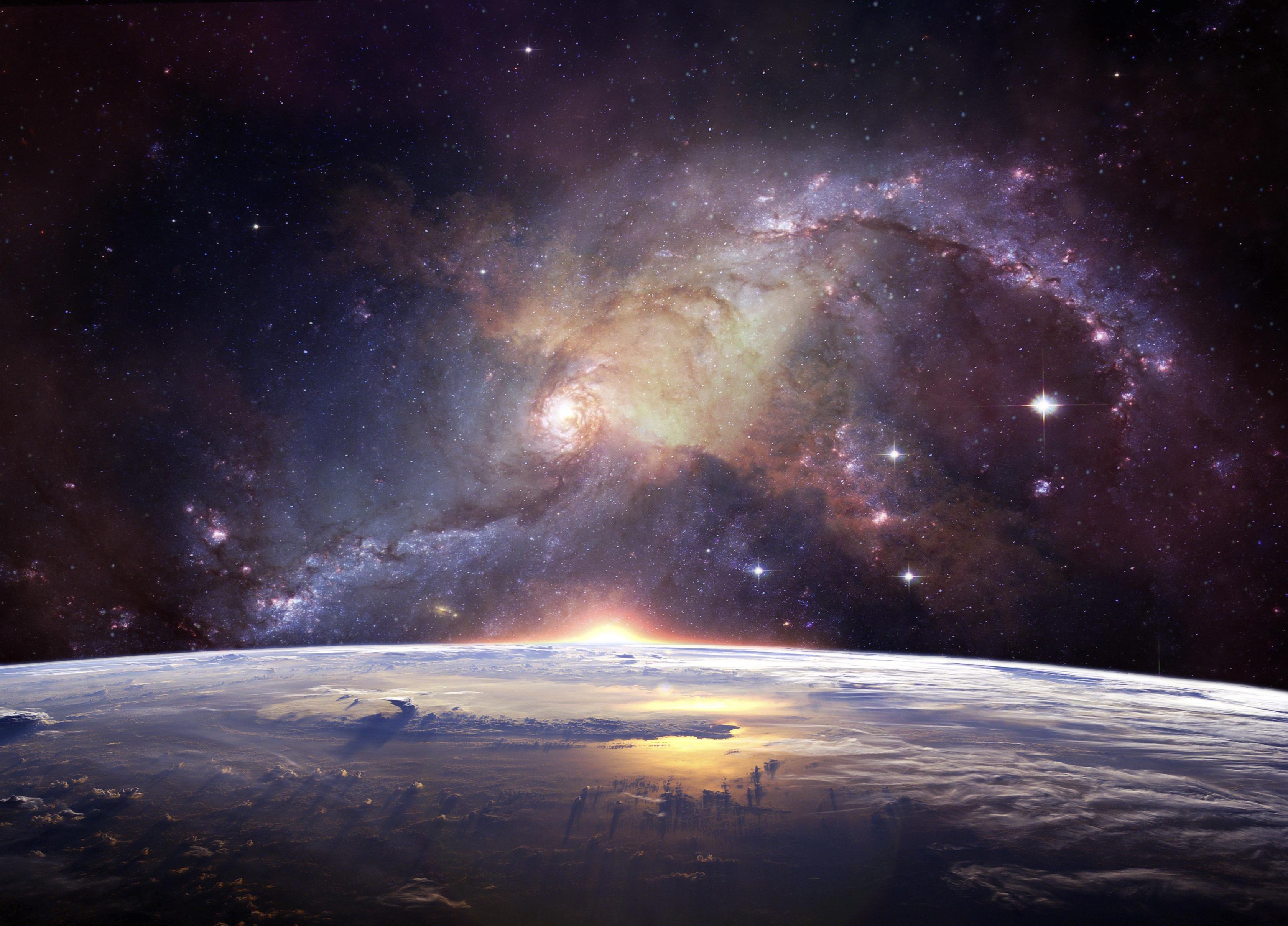 Galaxy Planetscape Space Stars 3359x2415