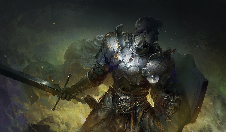 Armor Shield Sword Warrior 3000x1758