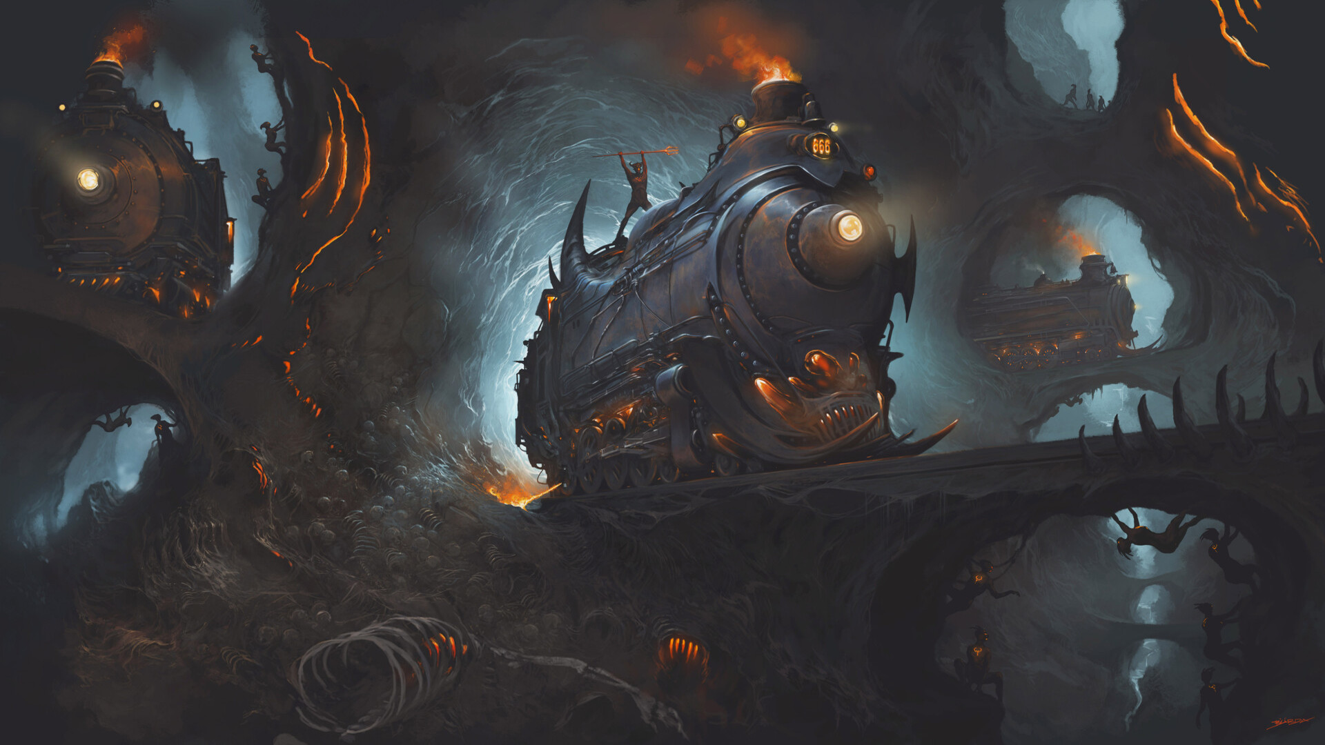 Cave Demon Locomotive Skeleton 1920x1080