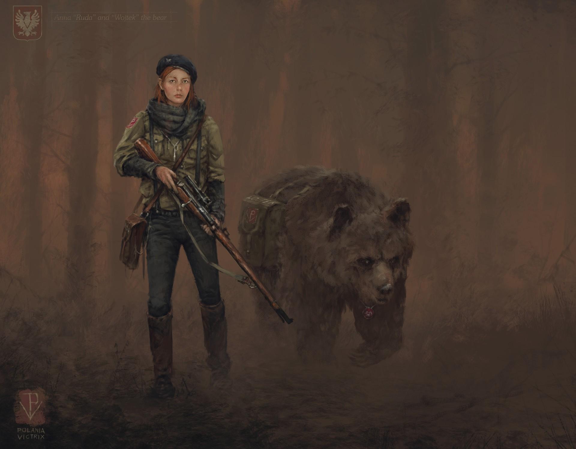 Bear Girl Sniper Sniper Rifle Woman Warrior 1920x1497